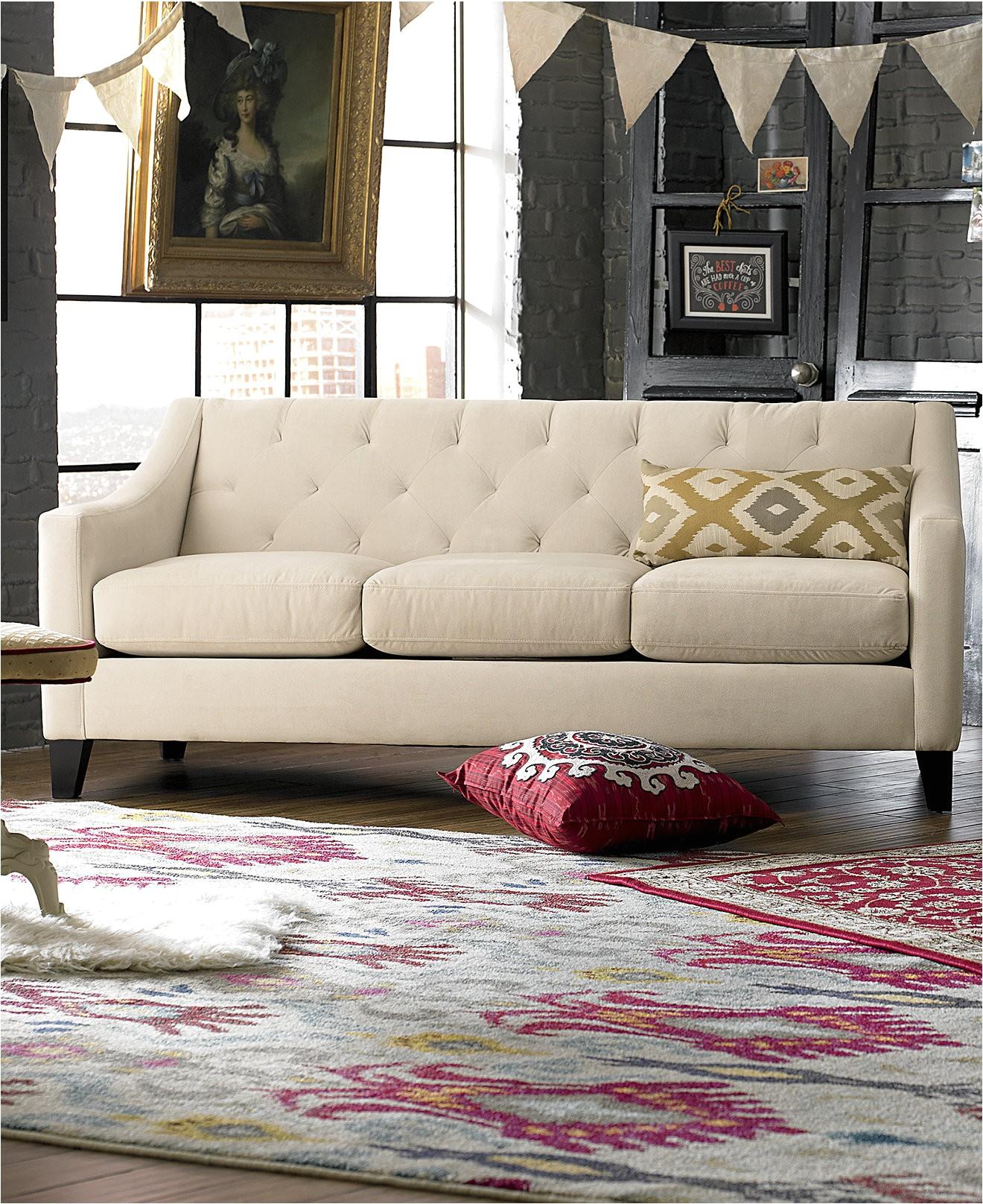 Attractive Macys Chloe Tufted Sofa Exceptional Macys Living Room Chairs With Chloe  Velvet Tufted Sofa Photo