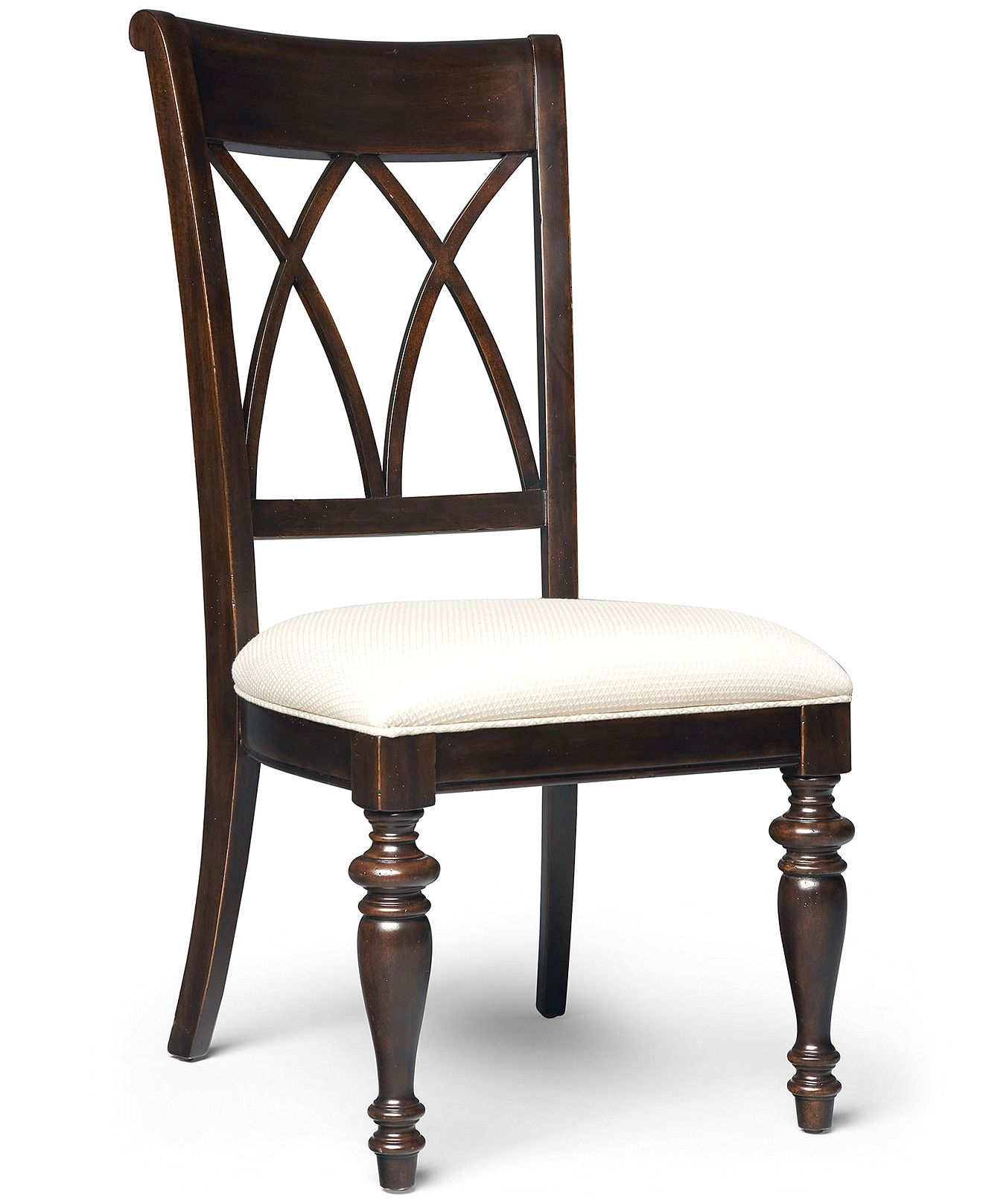 Macys Leather Dining Chair Bradford Dining Chair Cross Back Side Chair Dining Room Furniture