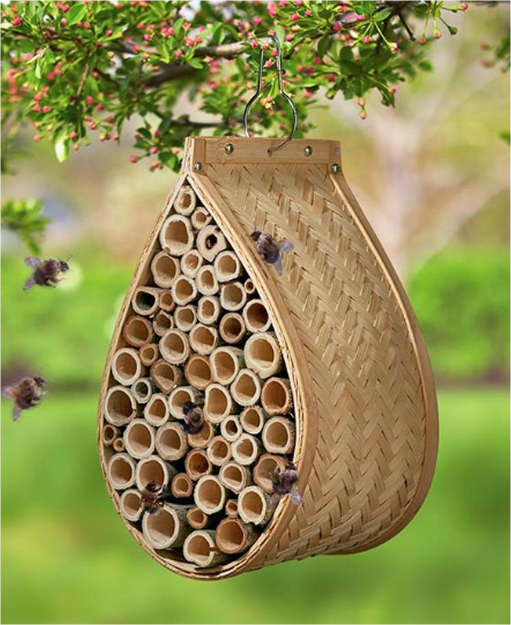 garden bee pollination hanging mason bee house mason bee hive