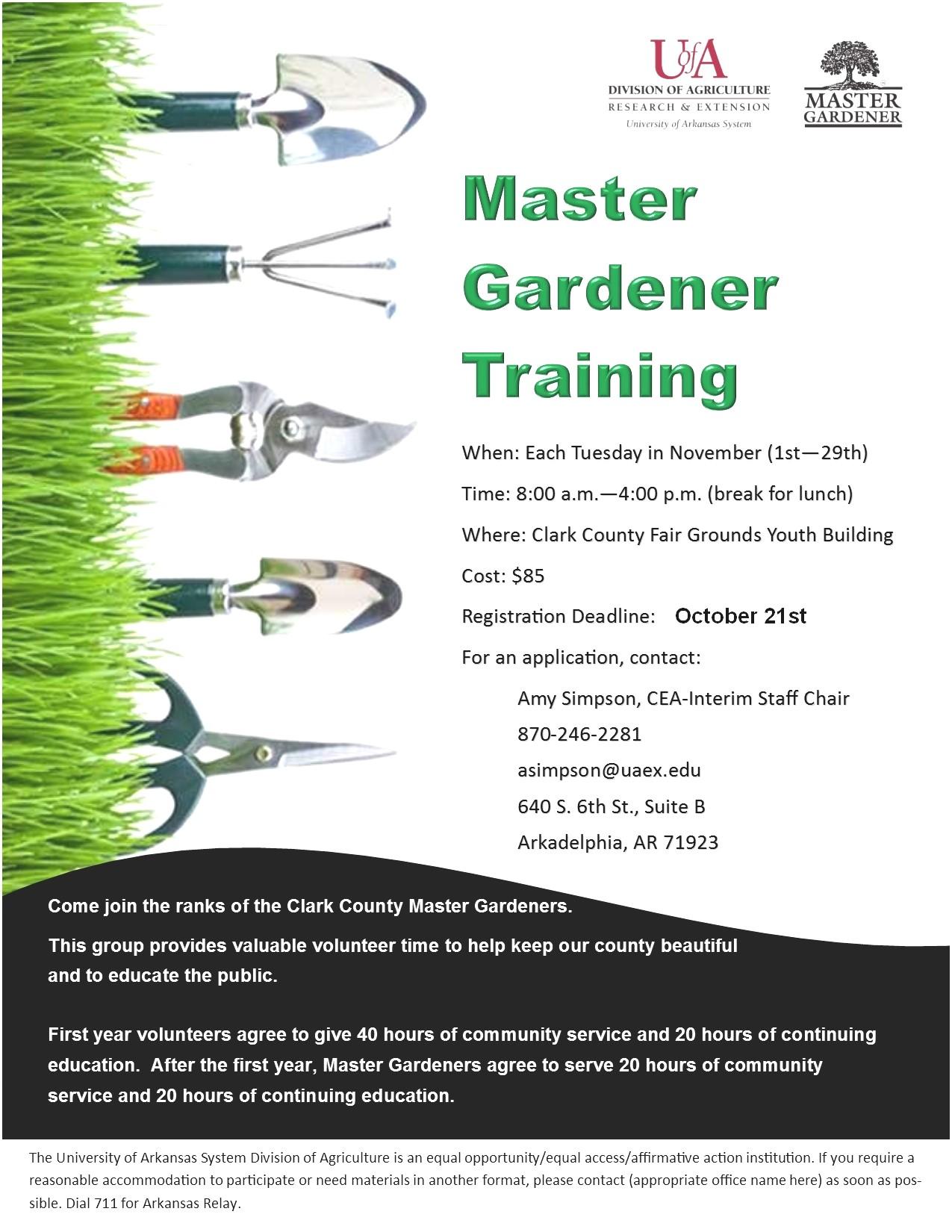 Master Gardener Program Online Master Gardener Program Online Beautiful Clark County Arkansas