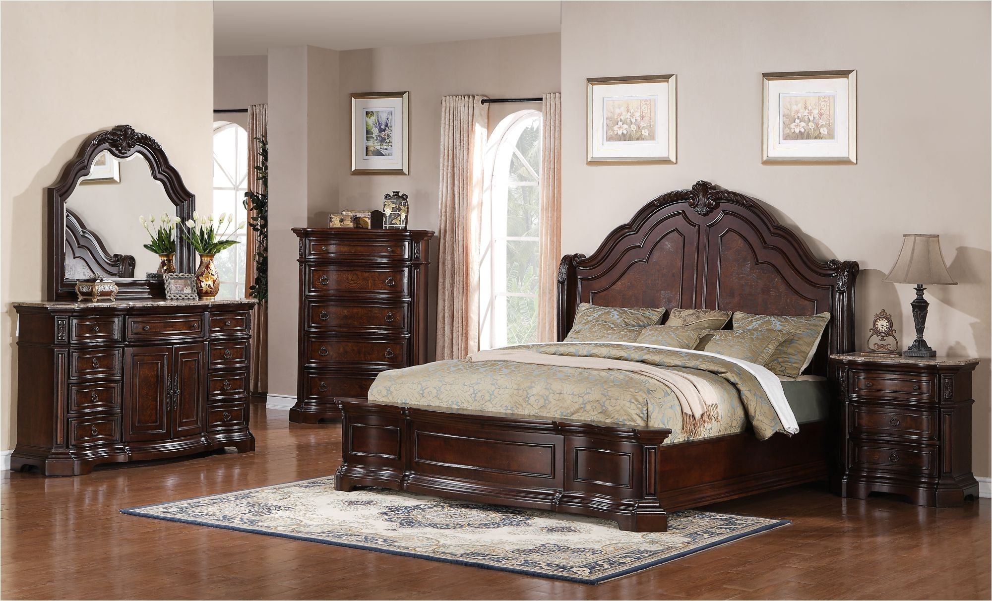 samuel lawrence edington queen bedroom suite mathis brothers furniture