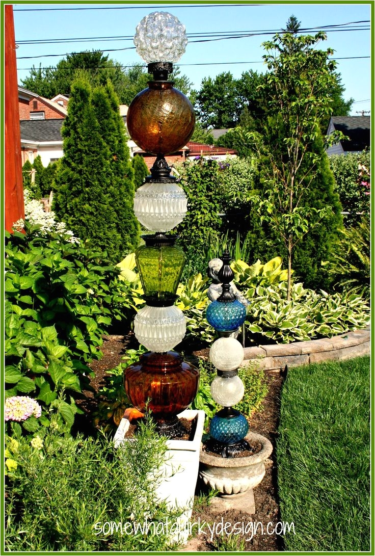 building glass towers recycled lamps