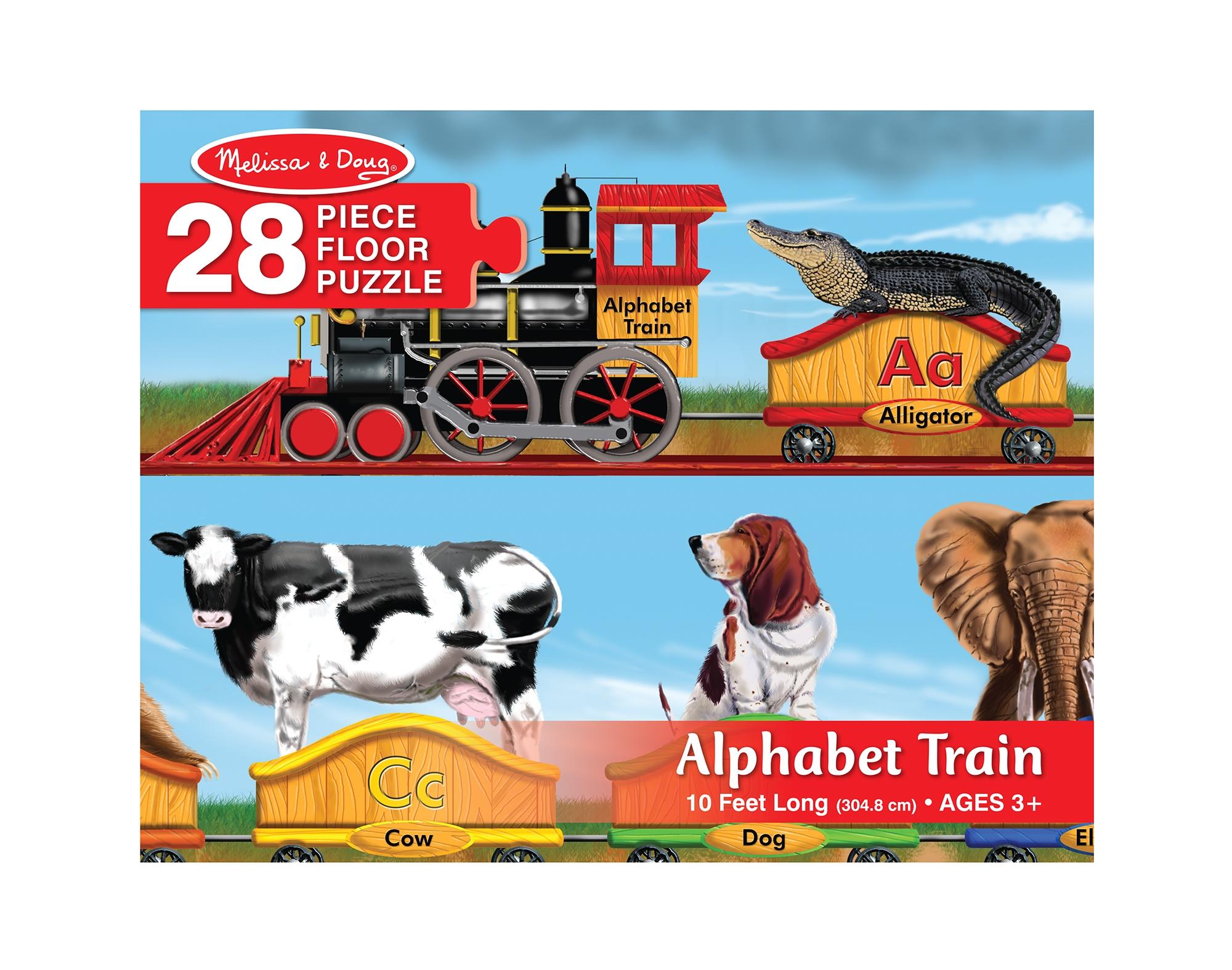 Melissa and Doug Floor Puzzles Alphabet Train Melissa Doug Alphabet Train Jumbo Jigsaw Floor Puzzle Letters