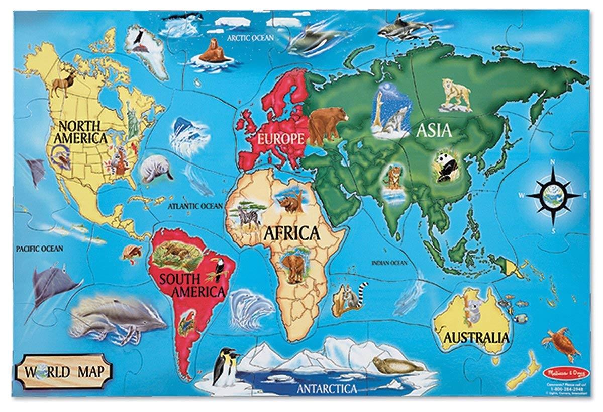 melissa doug world map jumbo jigsaw floor puzzle 33 pcs 2 x 3 feet melissa doug amazon ca toys games