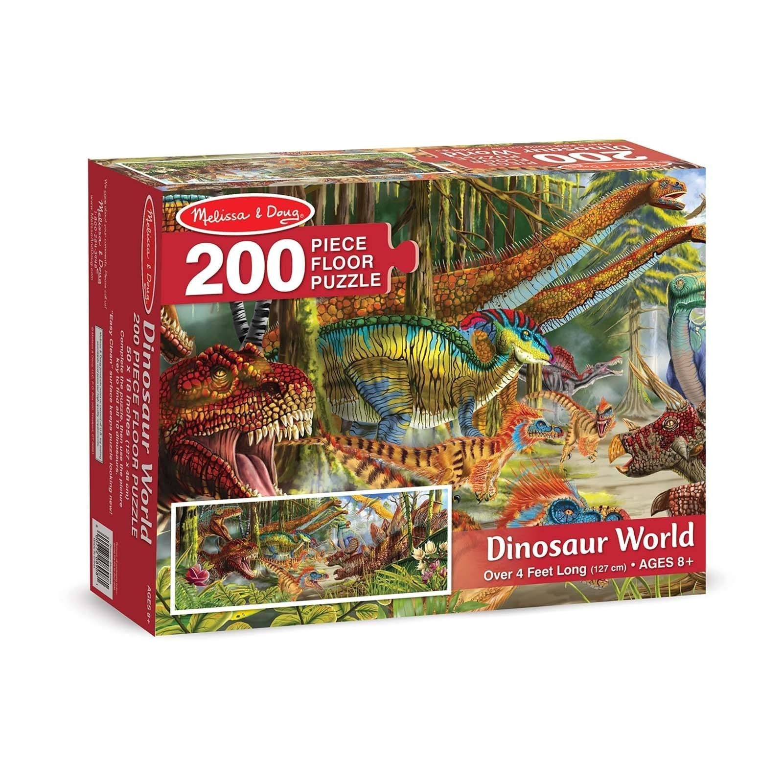 melissa and doug dinosaur world 200 piece floor puzzle