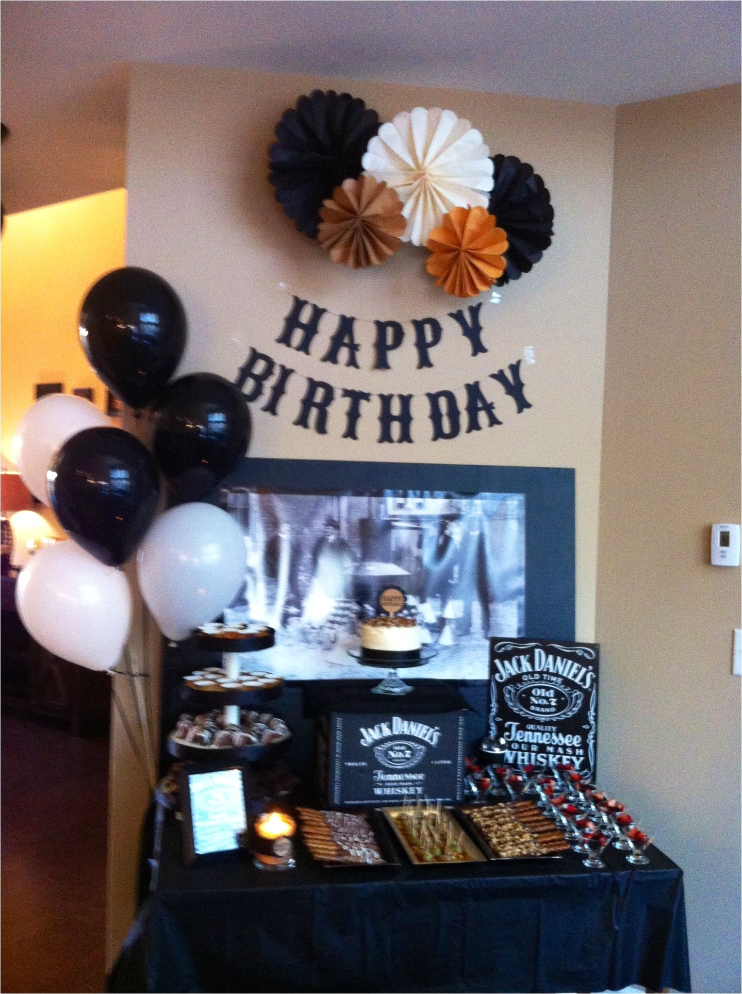 Mens 65th Birthday Decorations Jack Daniels Theme For Dad S Surprise 60th Bday Party Whiskey
