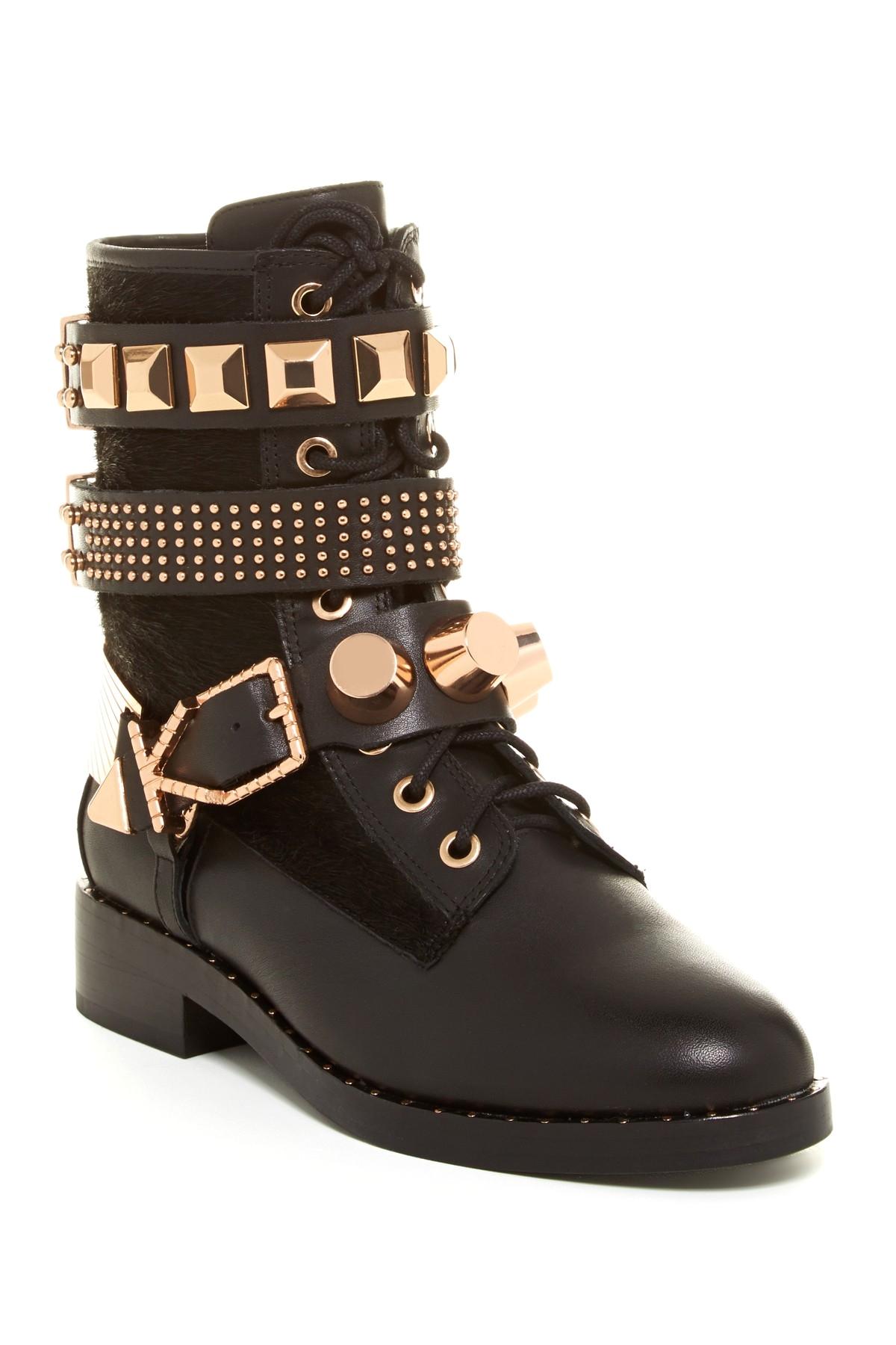 image of ivy kirzhner bowery genuine calf hair studded boot