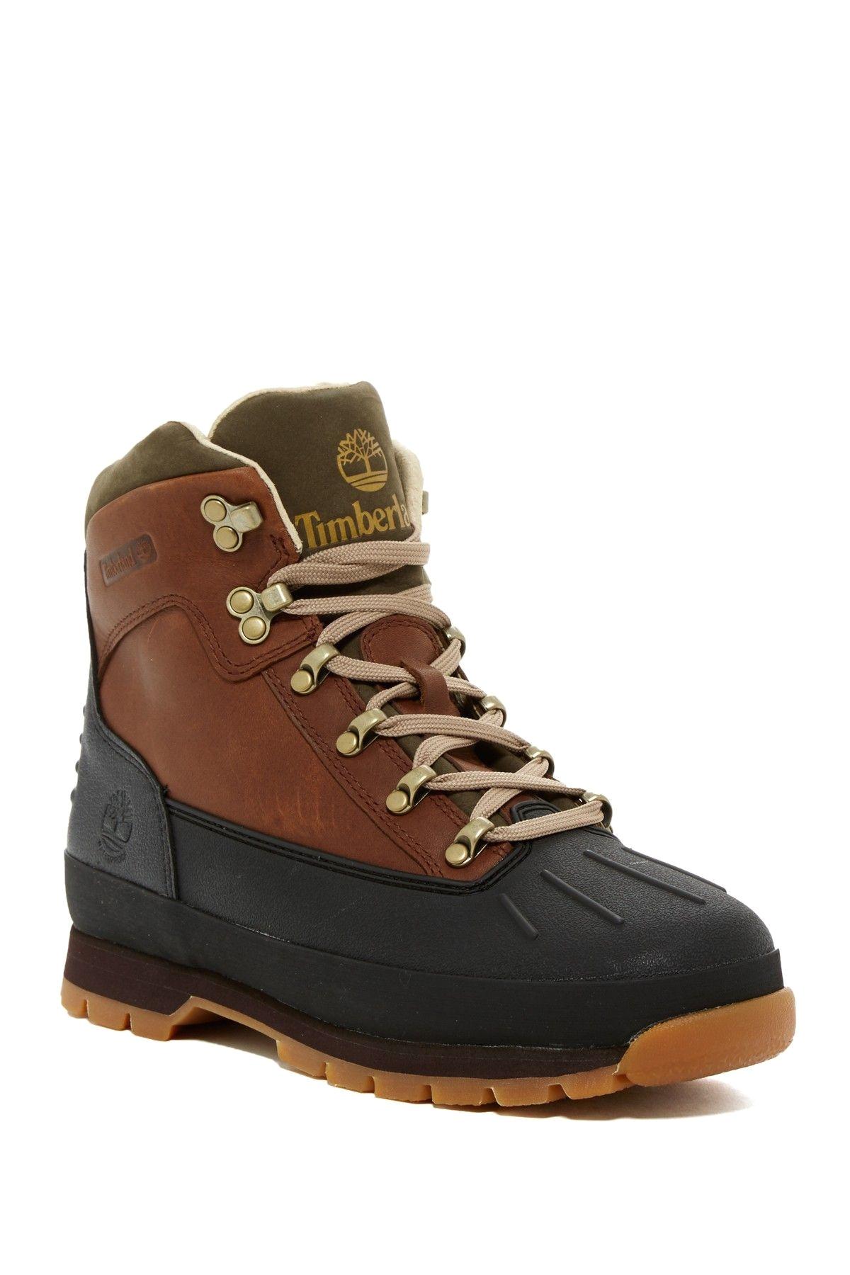 euro hiker waterproof shell toe boot