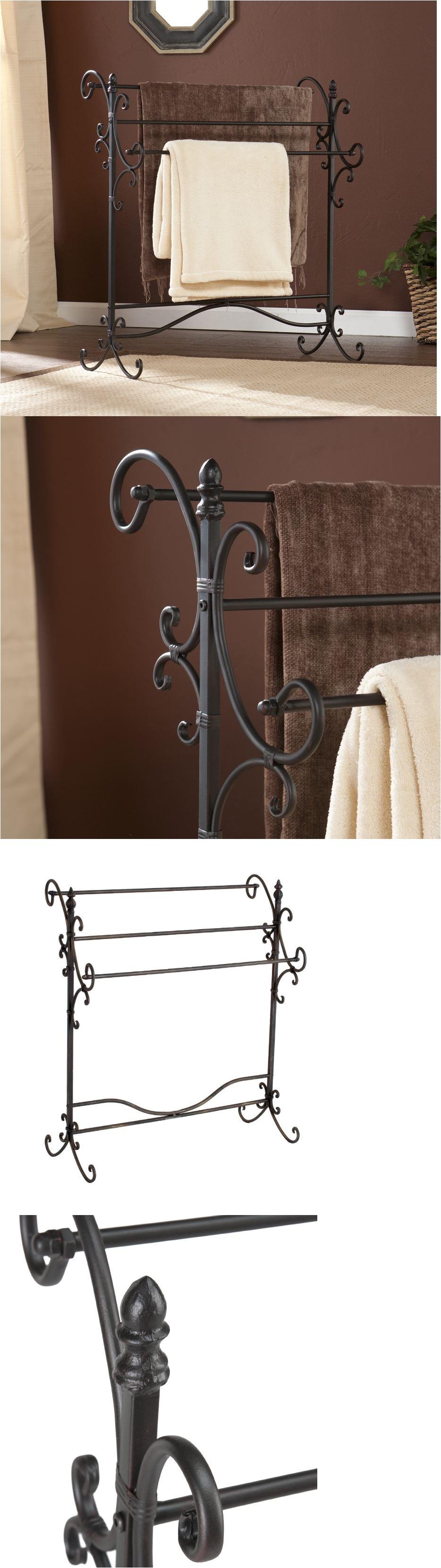 quilt hangers and stands 83959 blanket rack quilt metal free standing towel 3 tier poles