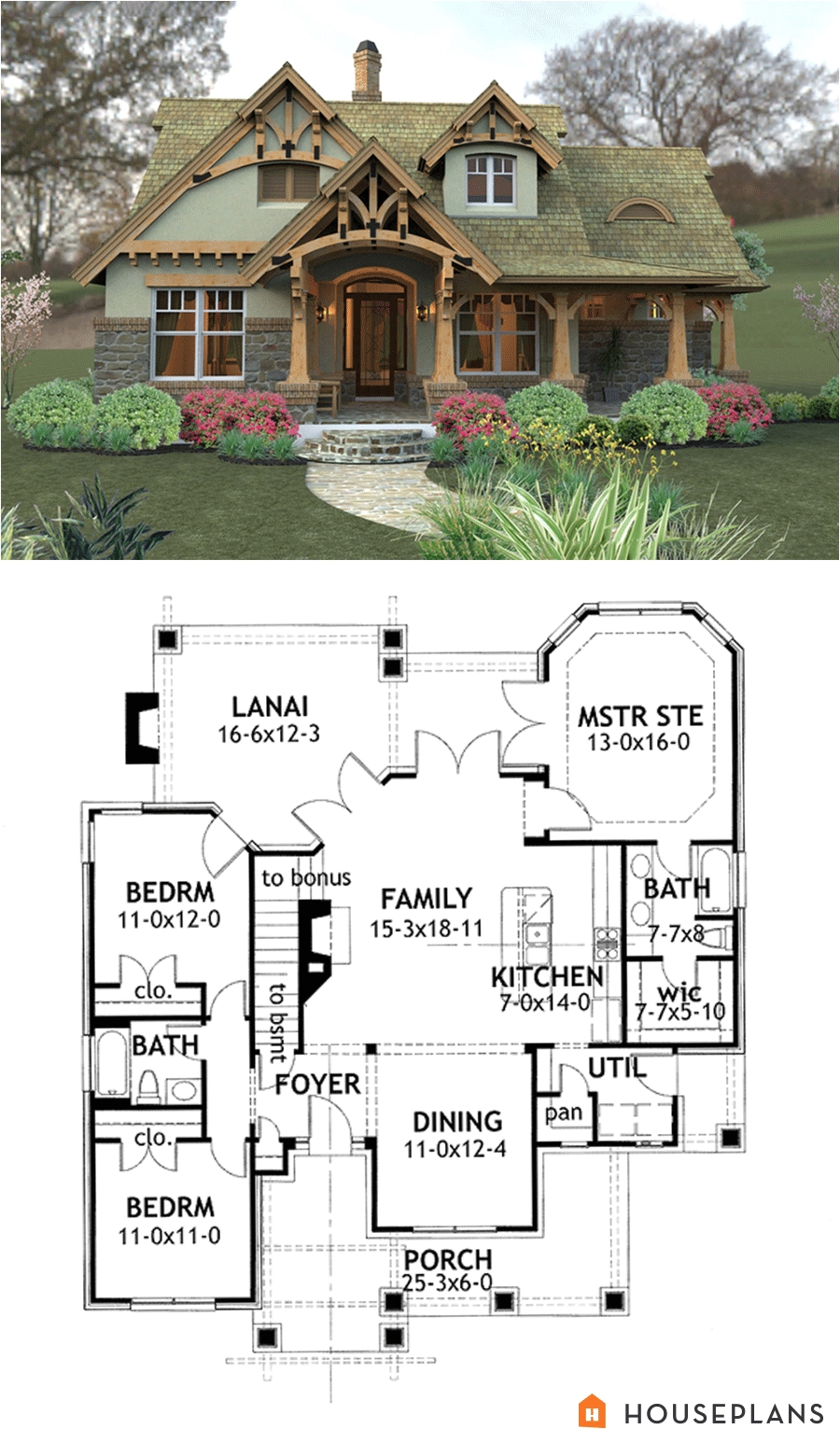craftsman mountain house plan and elevation 1400sft houseplans 120 174
