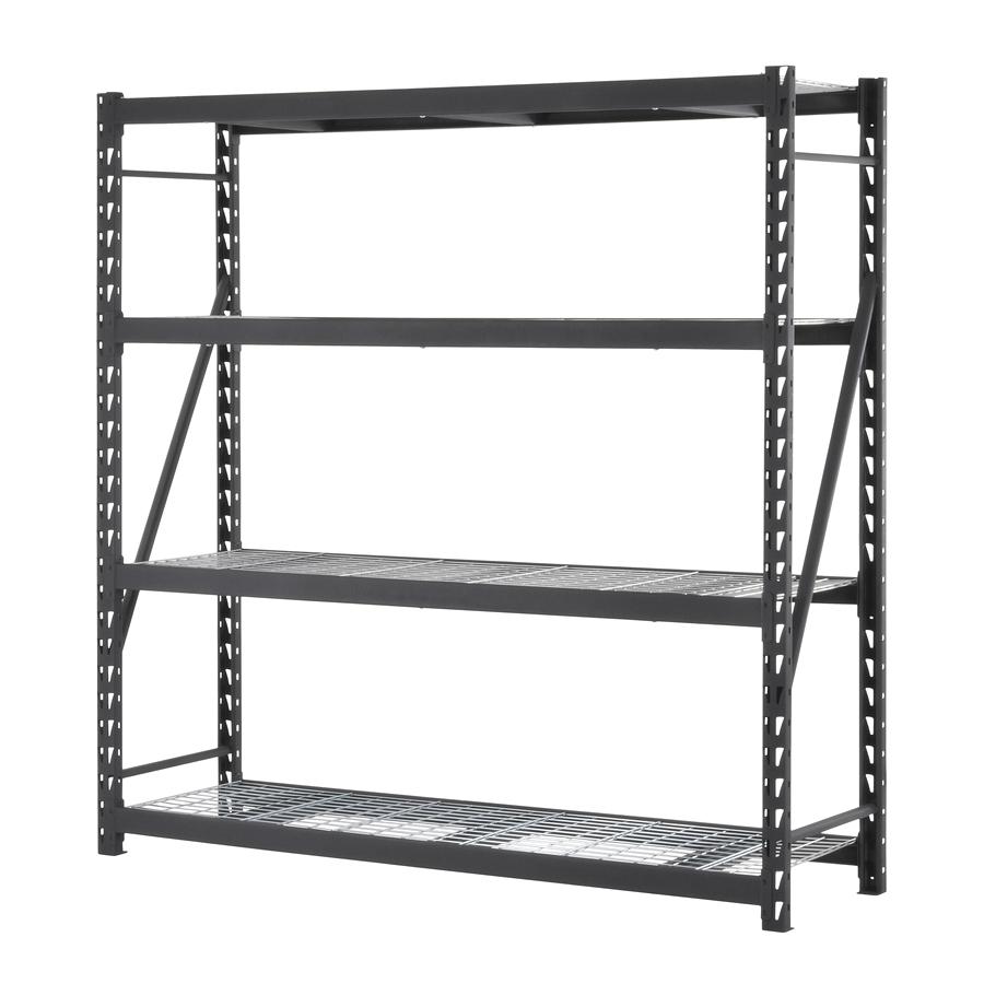 Muscle Rack Lowes Shop Edsal Muscle Rack 84 In H X 84 In W X 24 In D 4 Shelf Steel