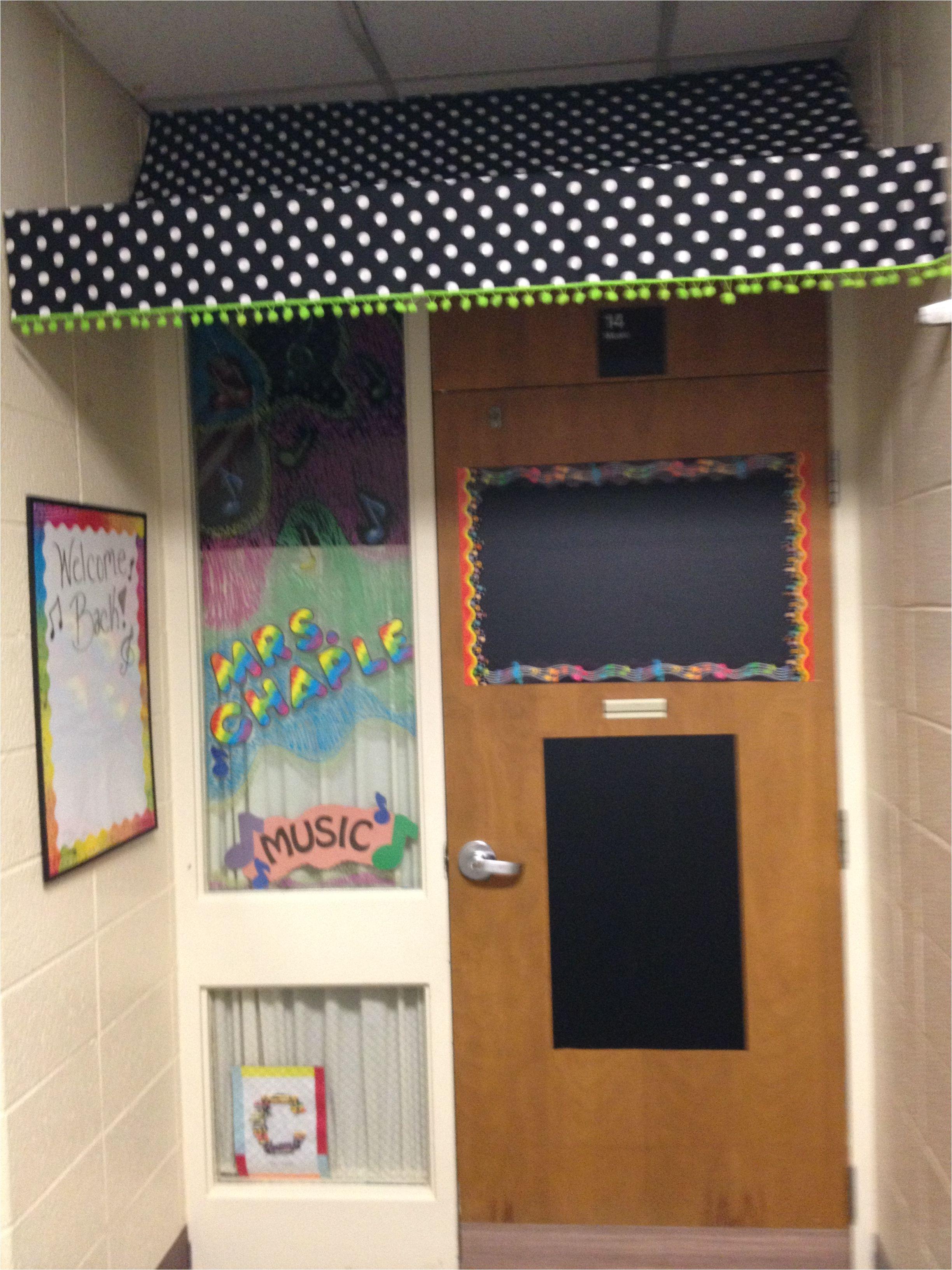 elementary music classroom classroom door music room