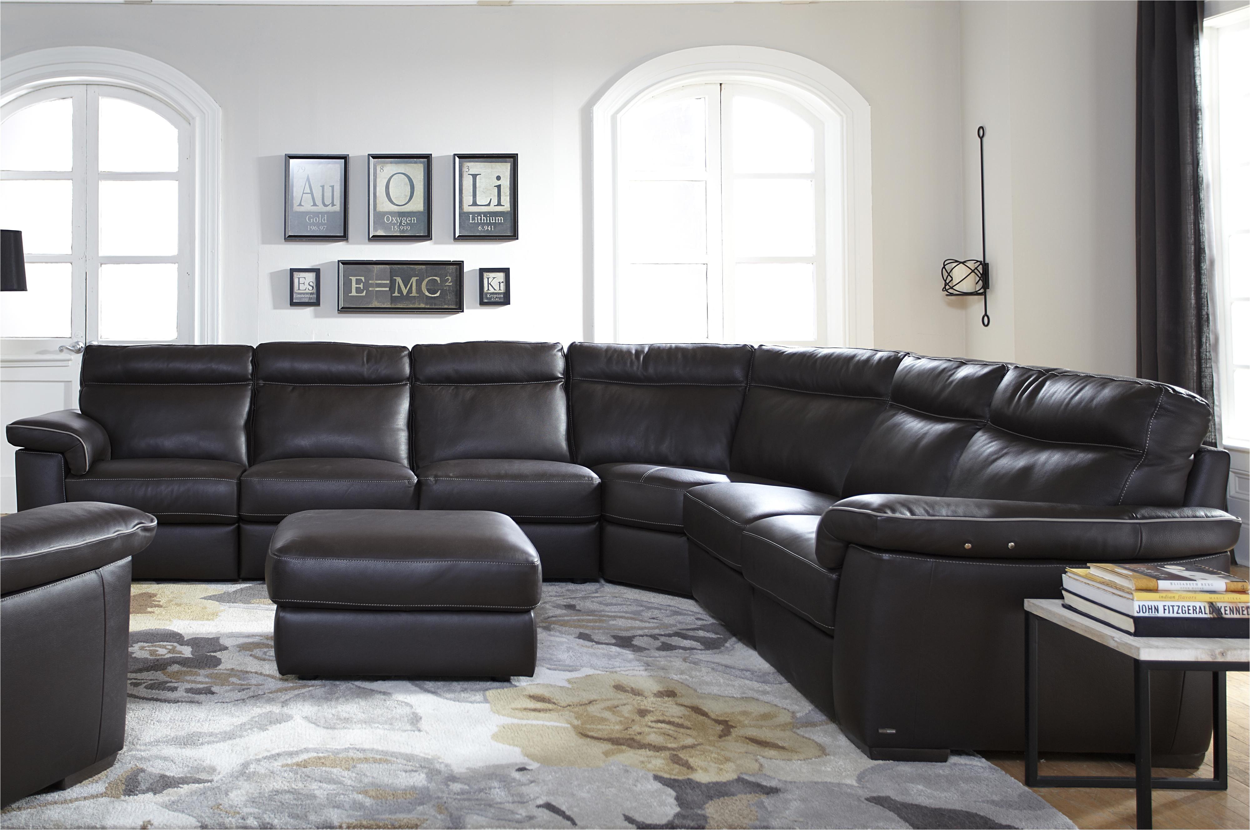 b757 4 pc power reclining sectional sofa by natuzzi editions