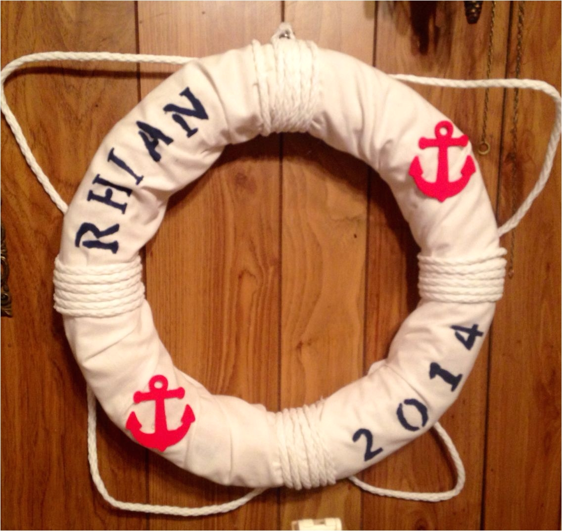 life saver for nautical nursery theme