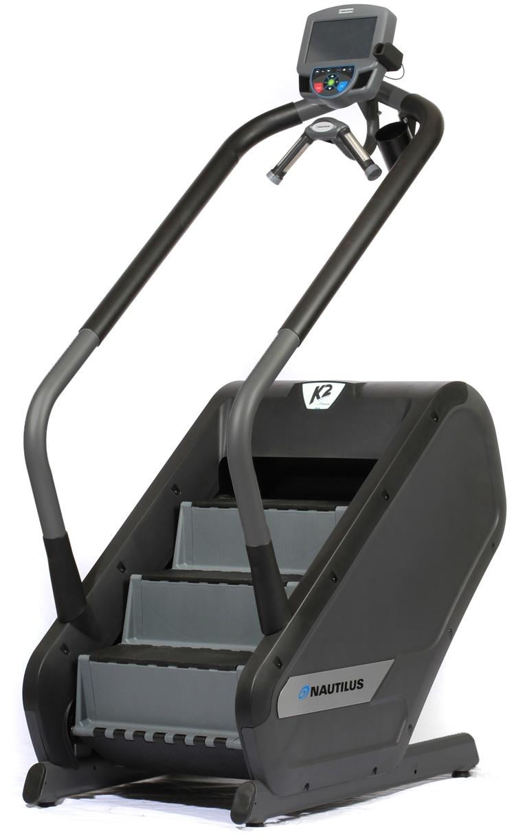 nautilus k2 vertical climber stair stepper w 7 monitor cs