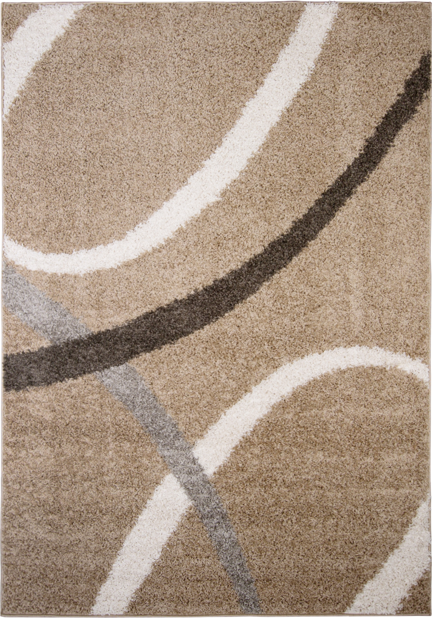nicole miller designer area rug beige white geometric swirls carpet