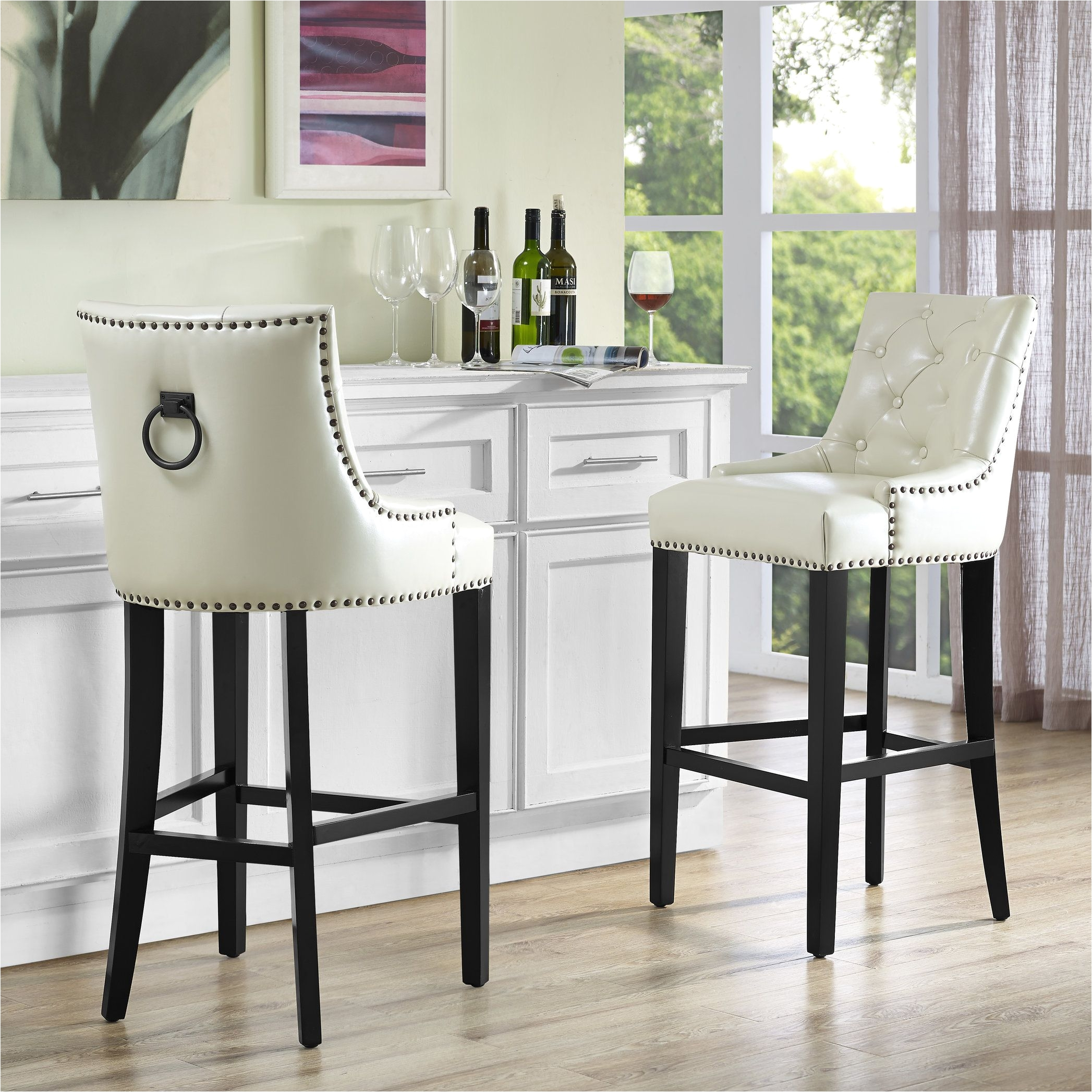 Nicole Miller Bar Chairs This Barstool Features Individually Hand Applied Copper Nail Heads