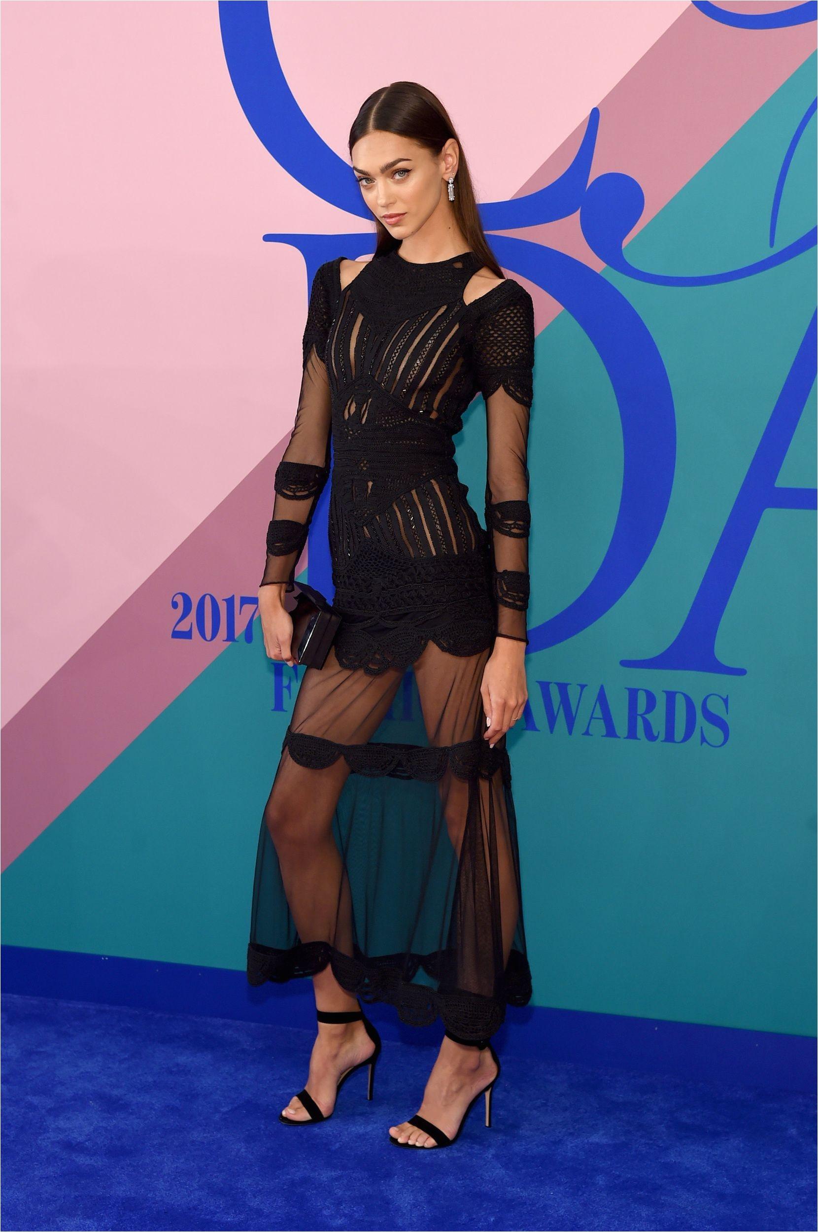model zhenya katava wearing nicole miller attends the 2017 cfda fashion awards at hammerstein