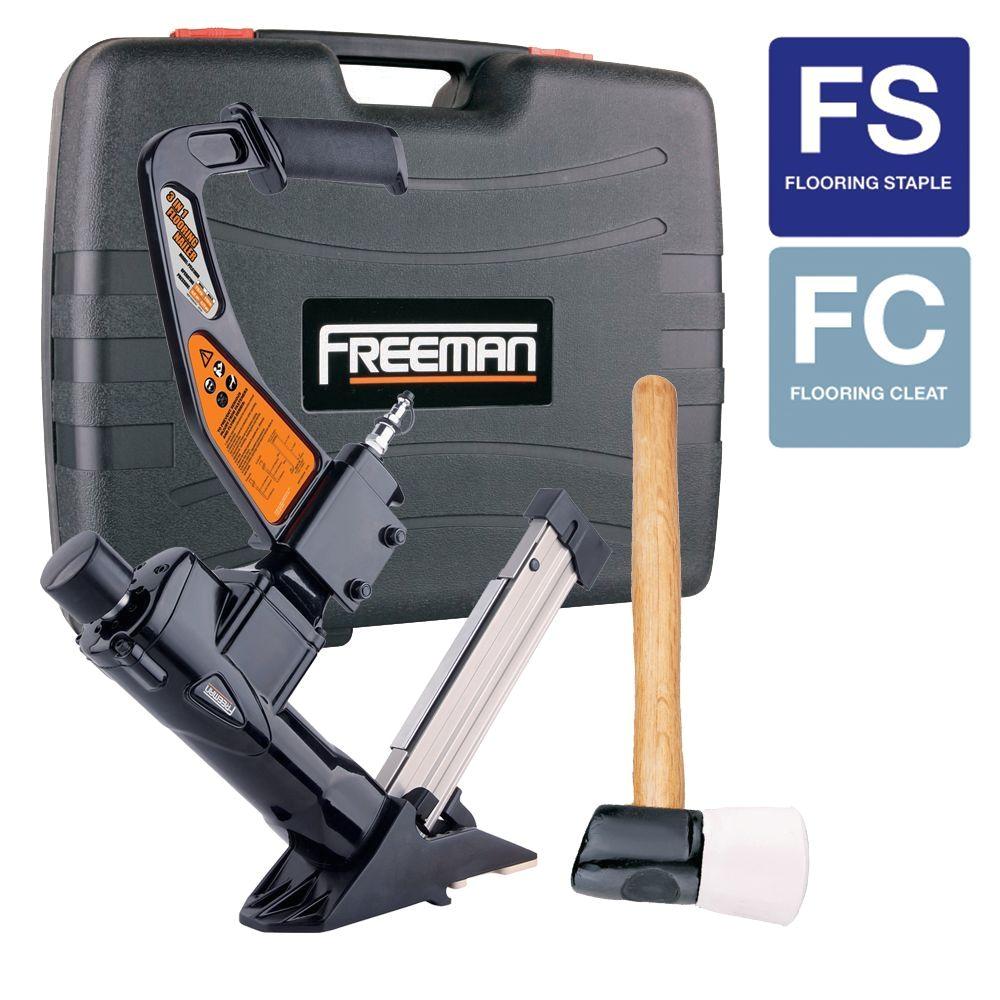 freeman 3 in 1 flooring air nailer and stapler