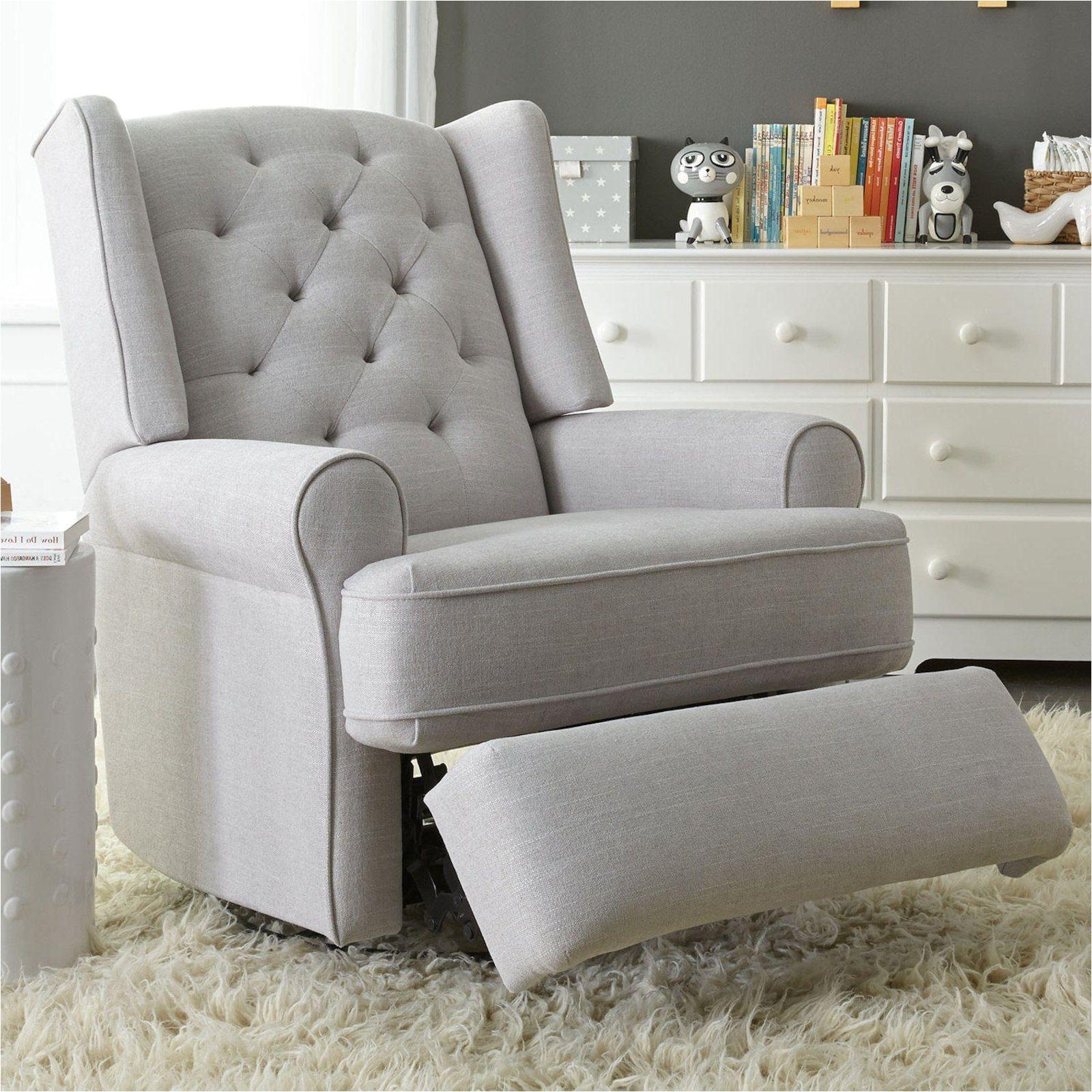 Nursing Rocking Chair Toys R Us Best Chairs Finley Swivel Glider Recliner  Gray Tweed Nursery