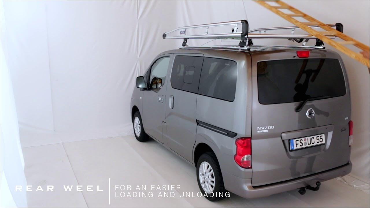 Nv200 Ladder Rack Nissan Nv200 Roof Rack Alurack Youtube