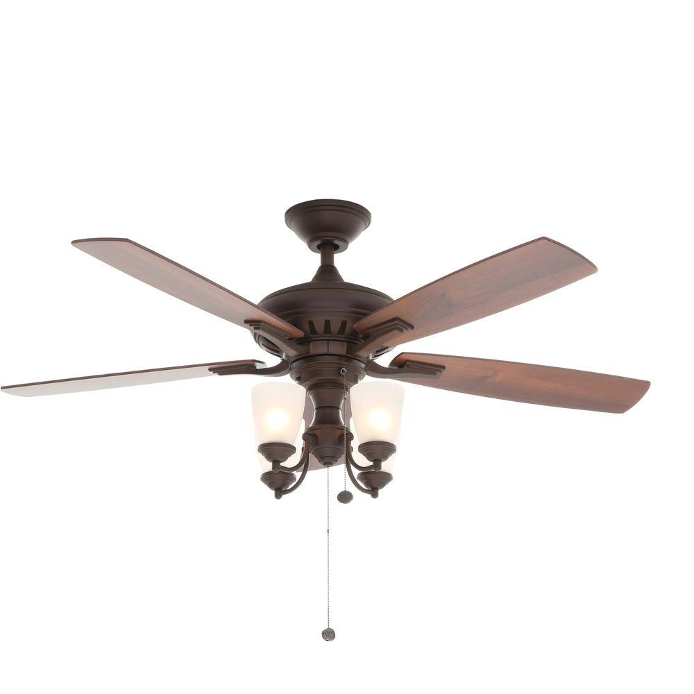 Oil Rubbed Bronze Floor Fan Hampton Bay Bristol Lane 52 In Indoor Oil Rubbed Bronze Ceiling Fan