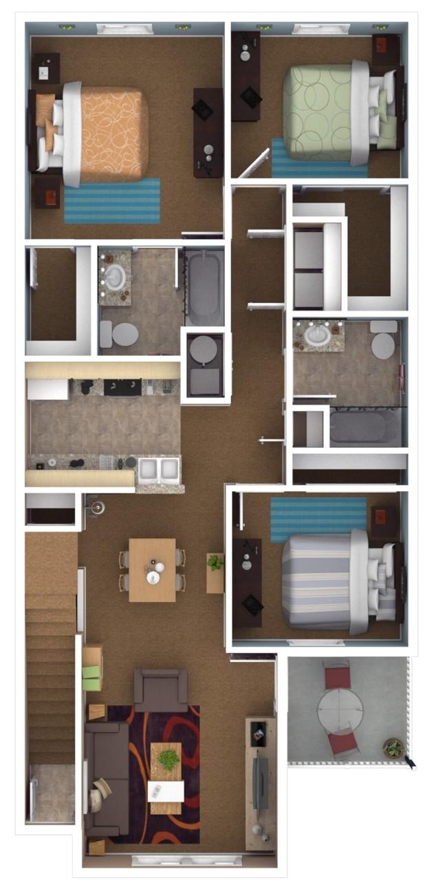 3br 2ba canterbury house apartments warsaw