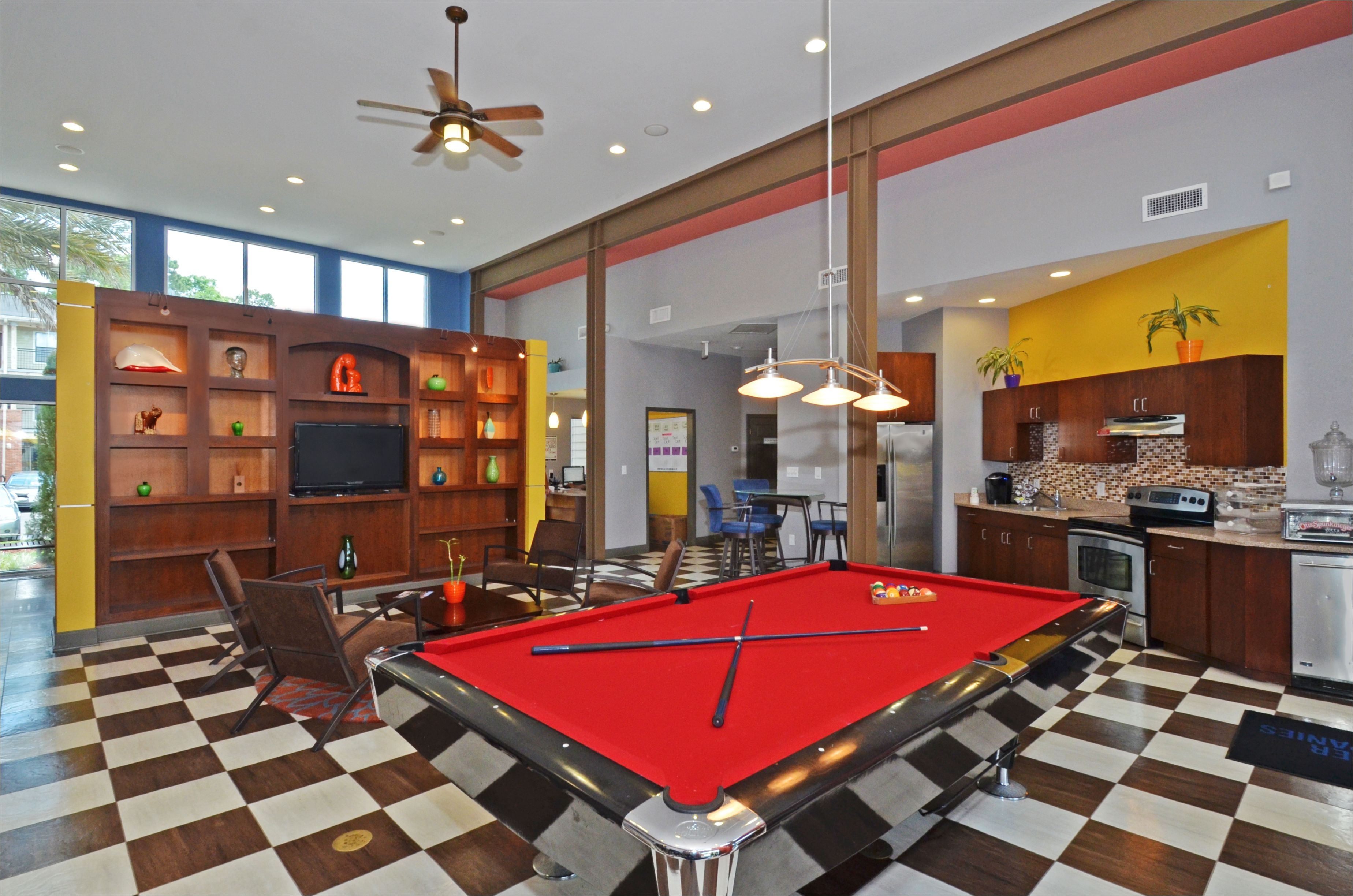 beautiful modern clubhouse at villa del lago apartments