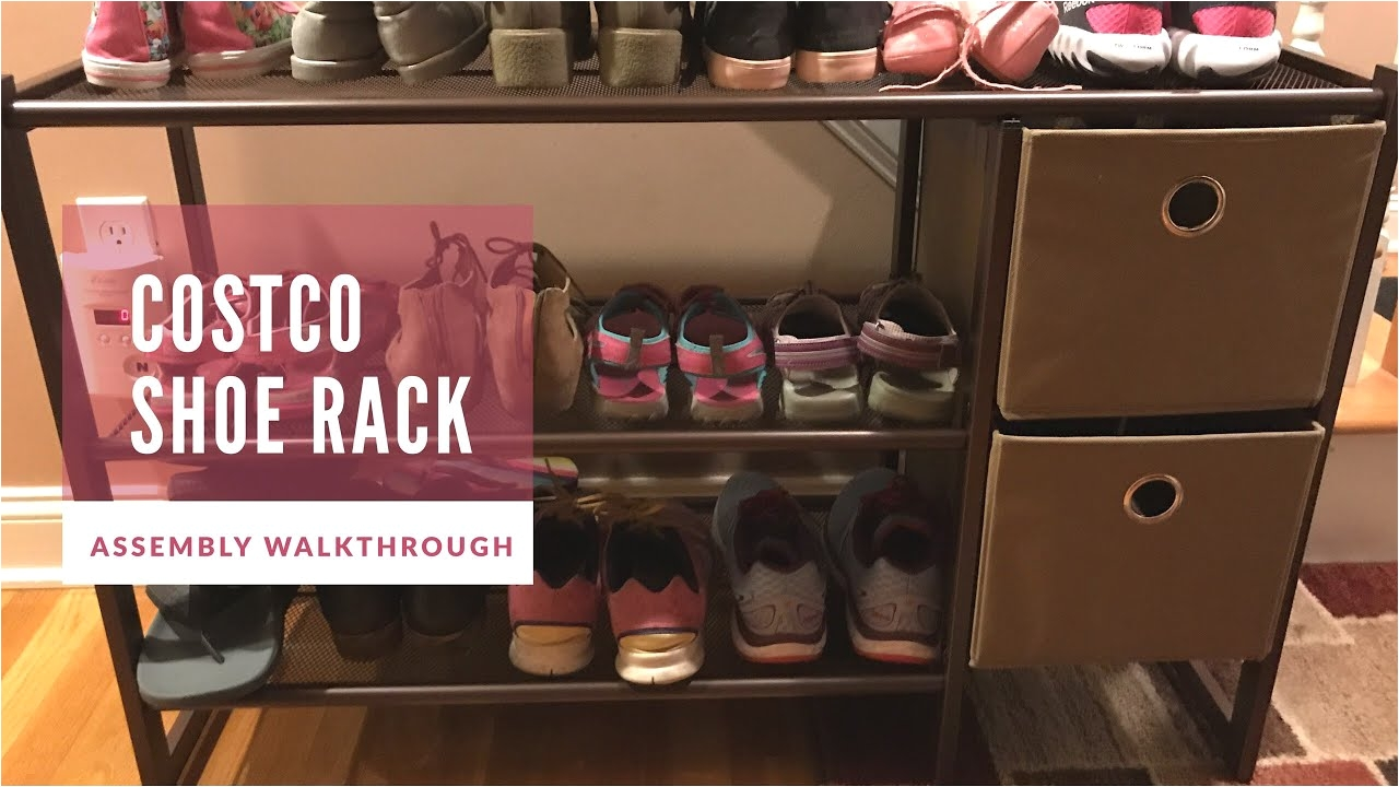 3 tier metal shoe rack from costco assembly walkthrough video