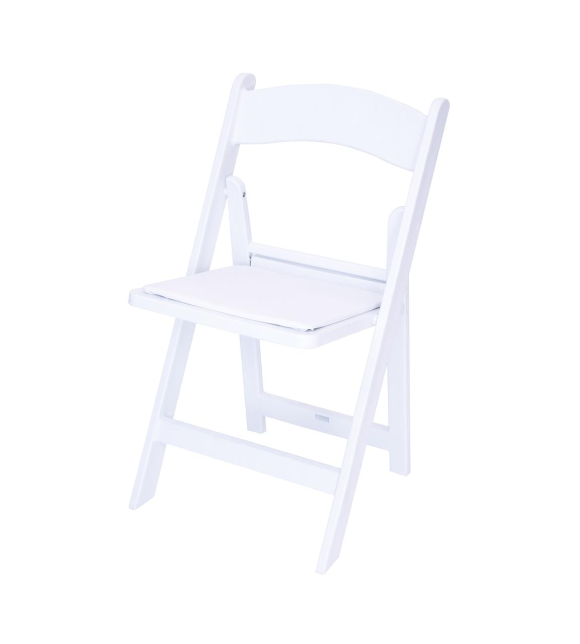 classic series white resin folding chair 1000 lb capacity wedding garden style
