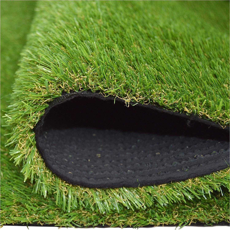 amazon com synturfmats 4 x5 artificial grass carpert rug premium indoor outdoor green synthetic turf 4 toned blades garden outdoor