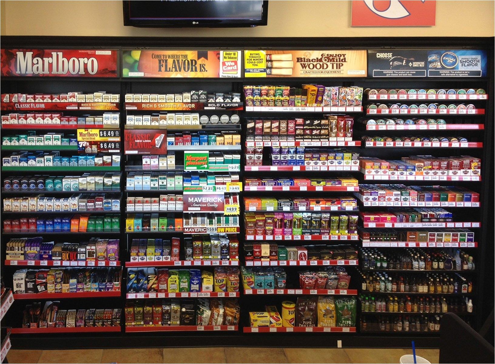 Overhead Cigarette Racks Cigarette Racks for Convenience Stores Creative Display Works