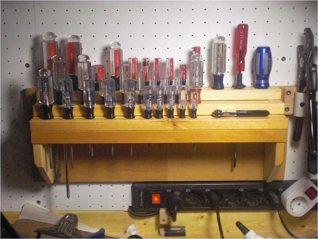 diy screwdriver rack