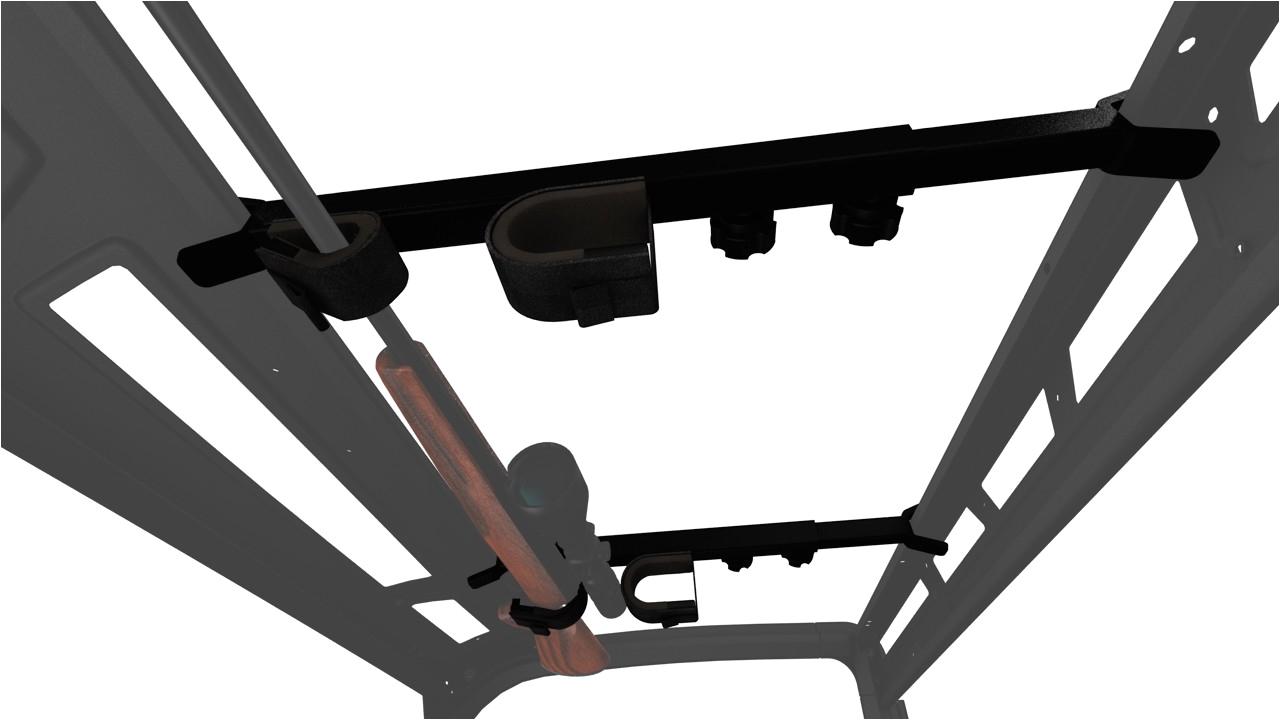 utv overhead in cab gun rack universal