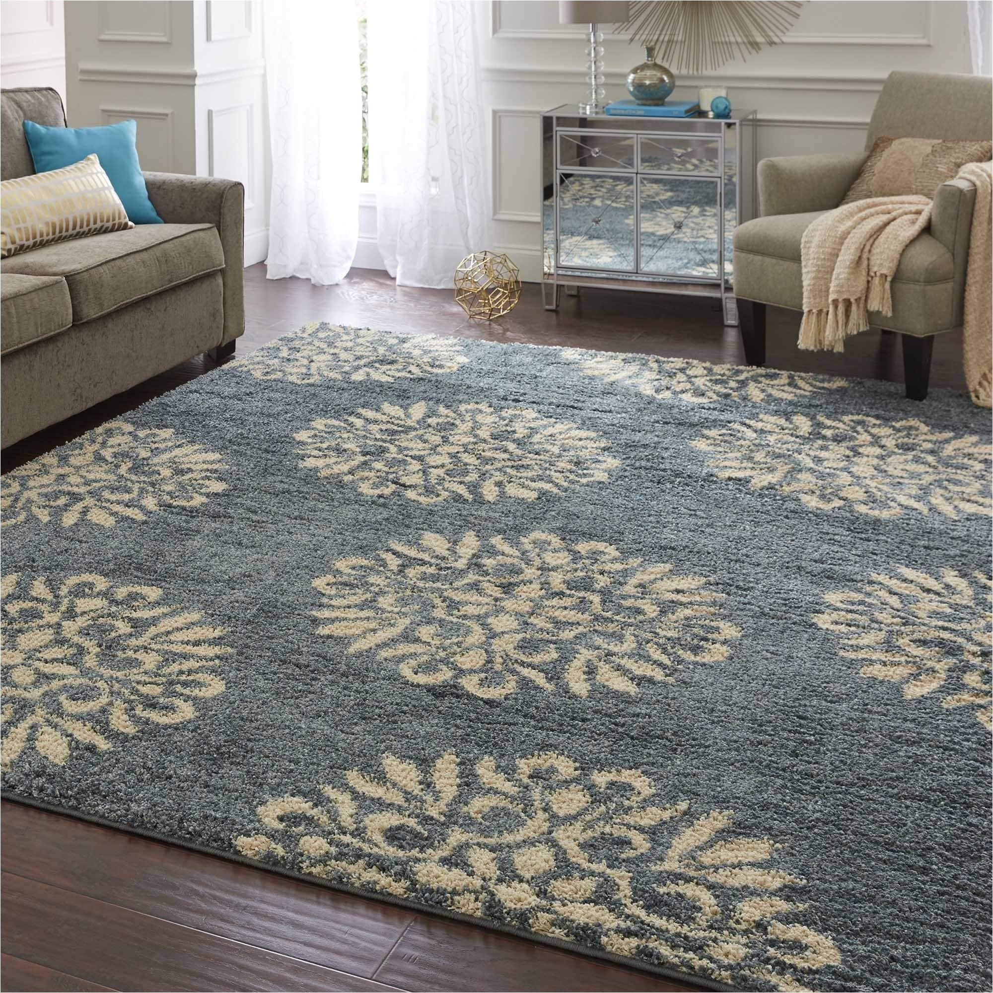 shop mohawk home bay blue huxley exploded medallions area rug 8 x 10 on sale free shipping today overstock com 9157575