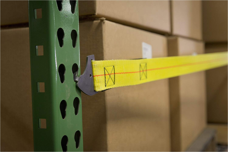 pallet rack safety straps install in seconds versatile prevent push through amazon com industrial scientific