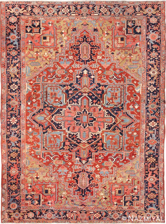 antique geometric persian heriz rug 49632 by nazmiyal persian rugs