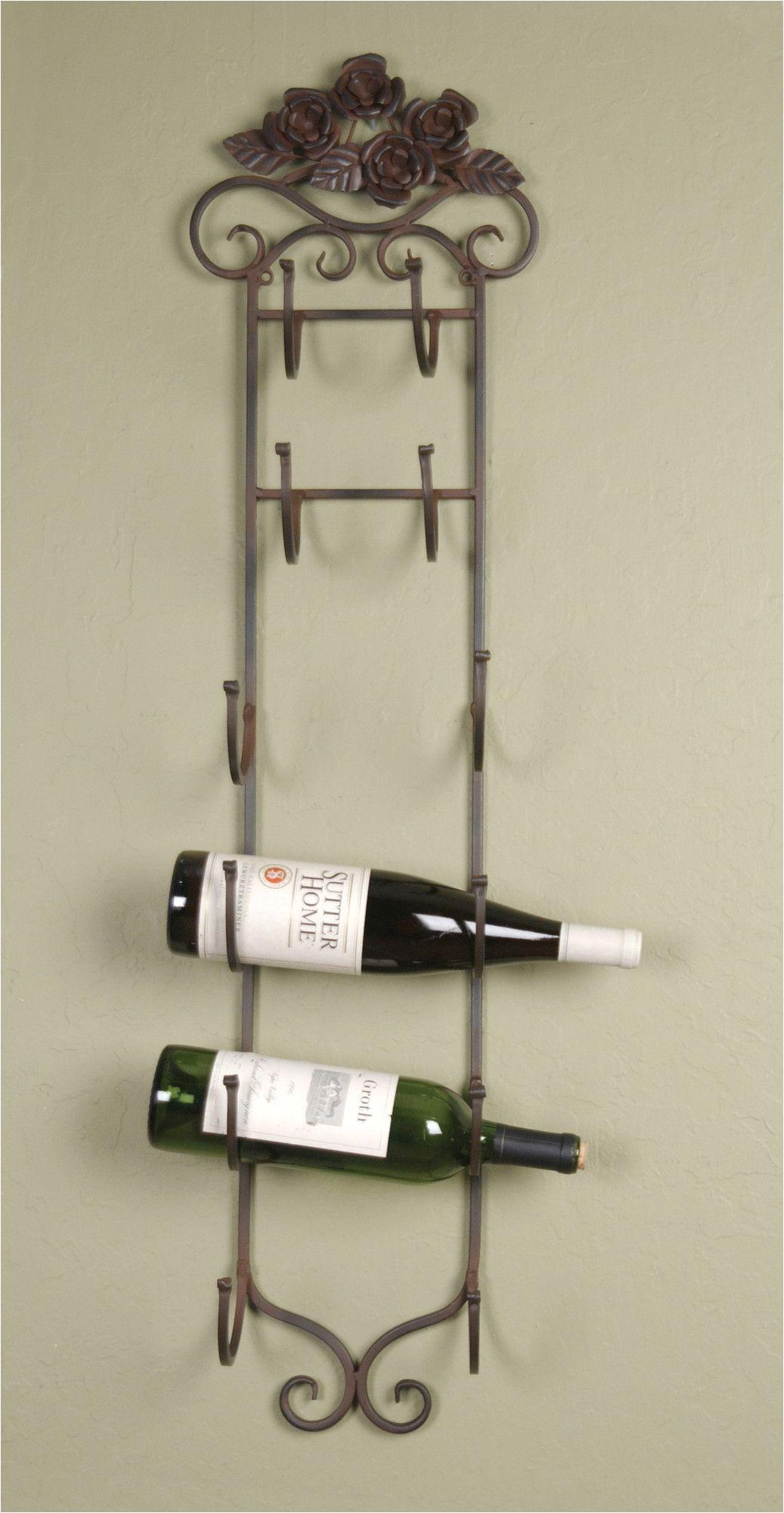 Pictures Of Wine Racks Wilco 6 Bottle Wall Mount Wine Rack Reviews Wayfair Kitchen