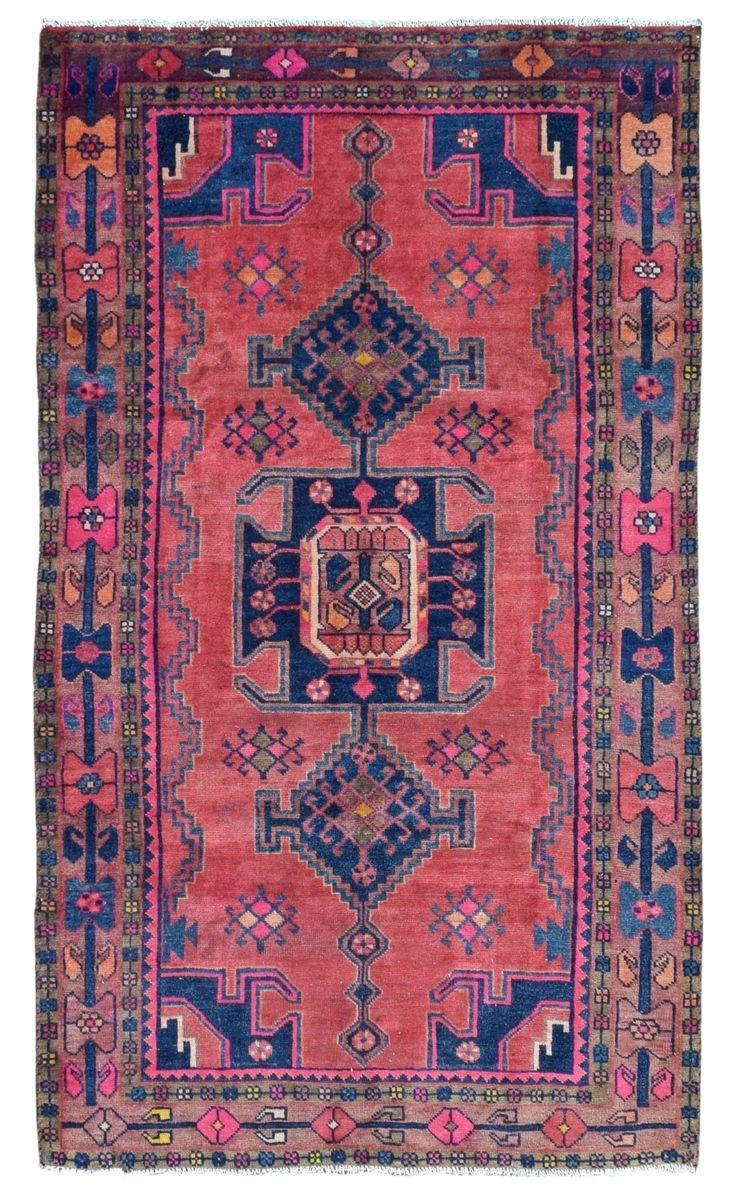 design hamadan size 4 6x7 10 color pink blue multi colored