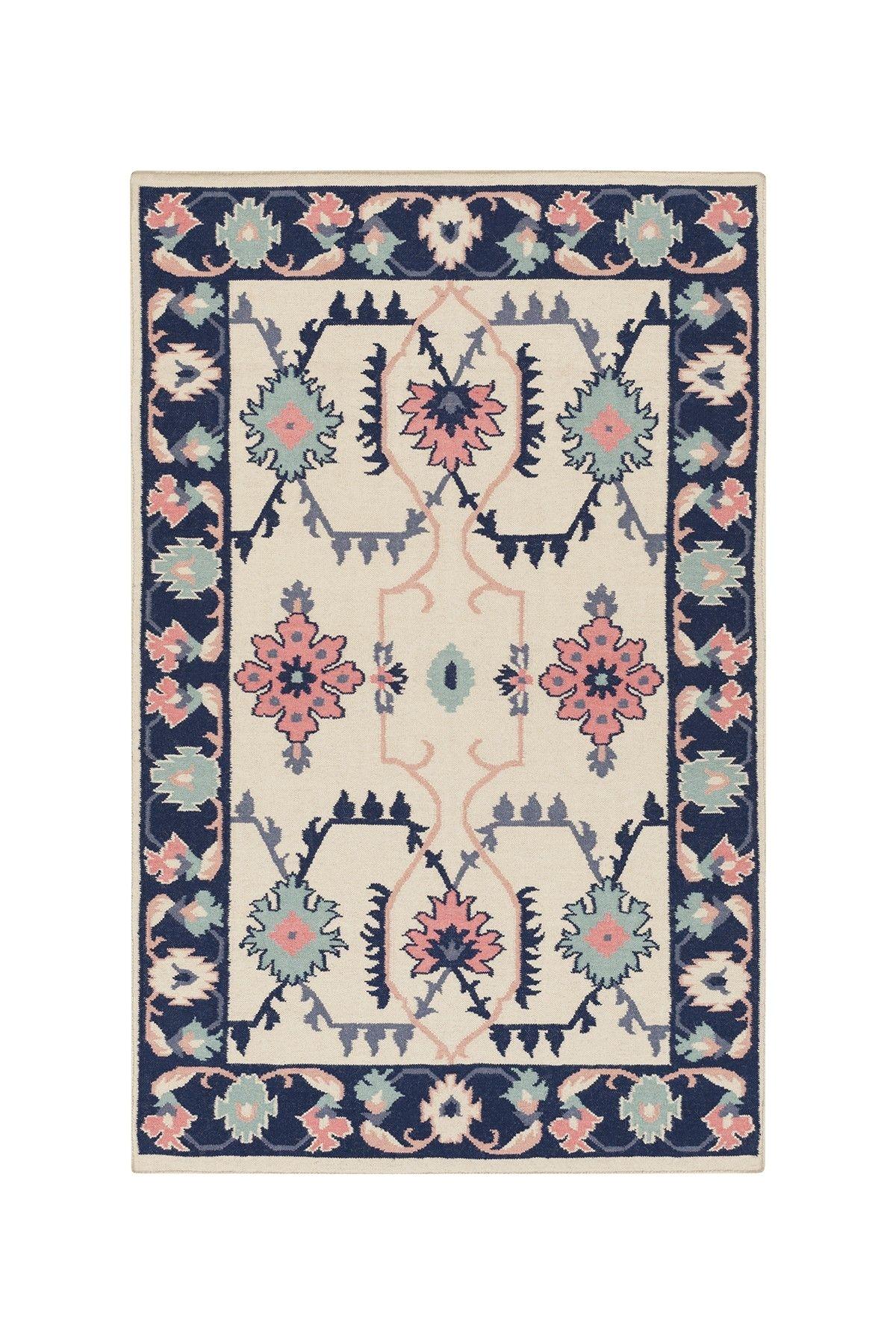 jewel tone ii hard twist wool rug neutral pink blue green on