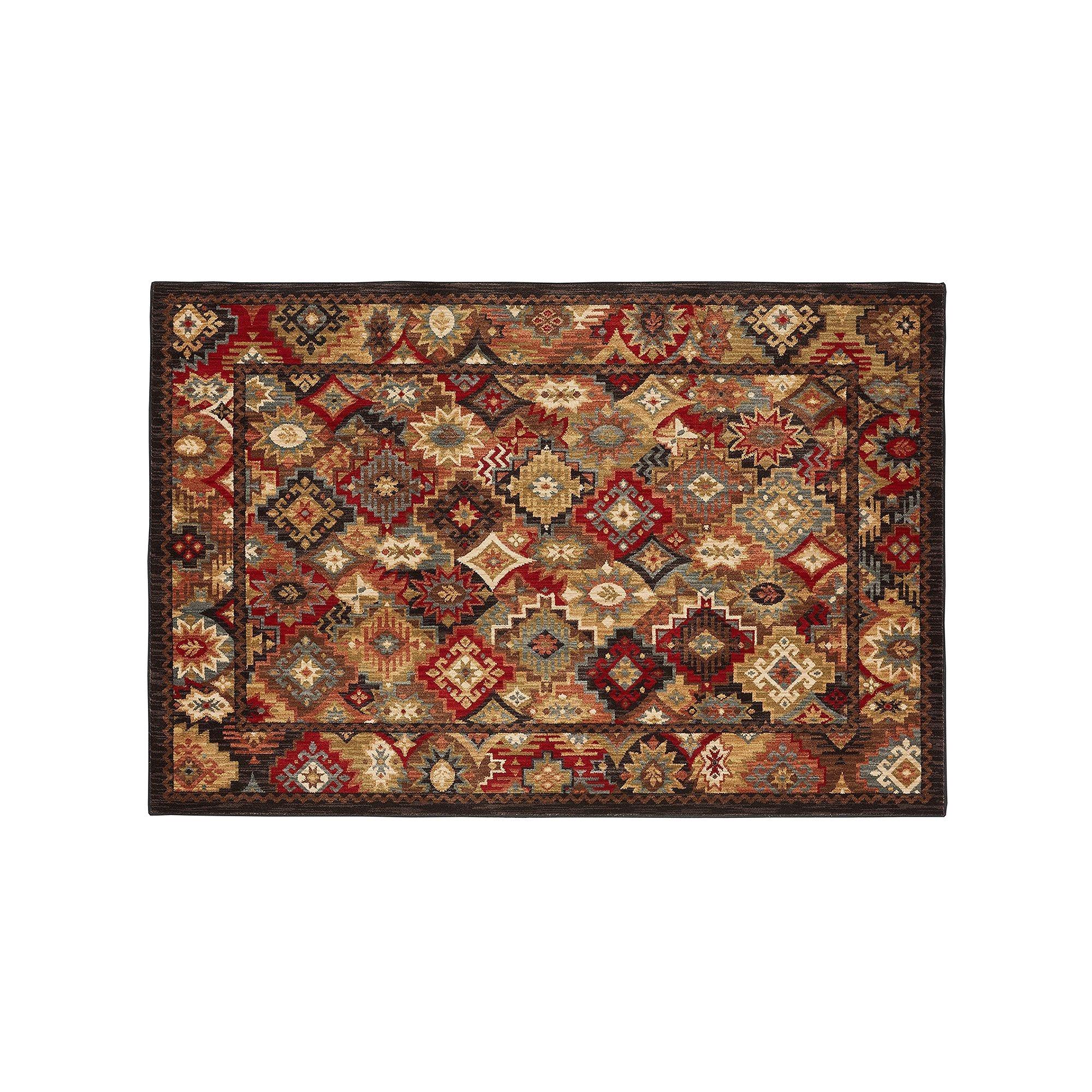 mohawka a home heritage endless wild smartstrand floral rug dark brown