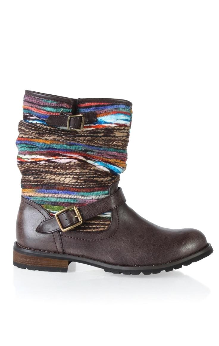 navajo printed riding boot 30 37