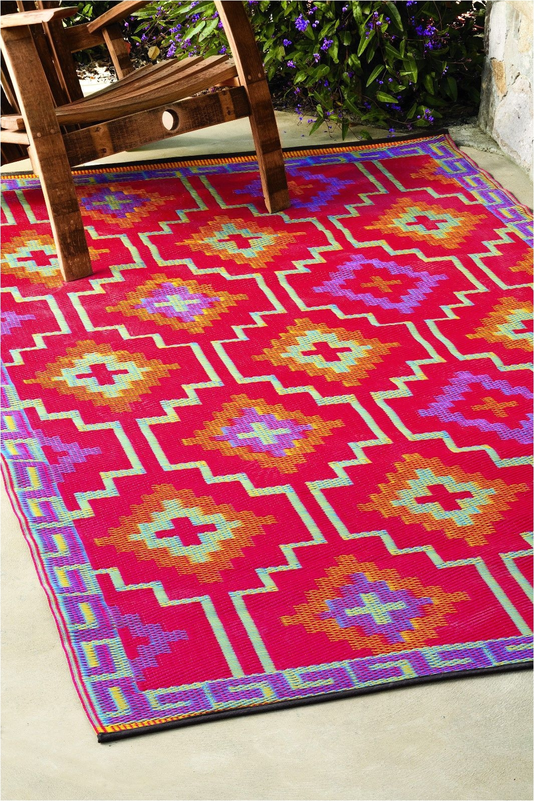 fab habitat indoor outdoor patio rug mat lhasa orange purple choose size ebay