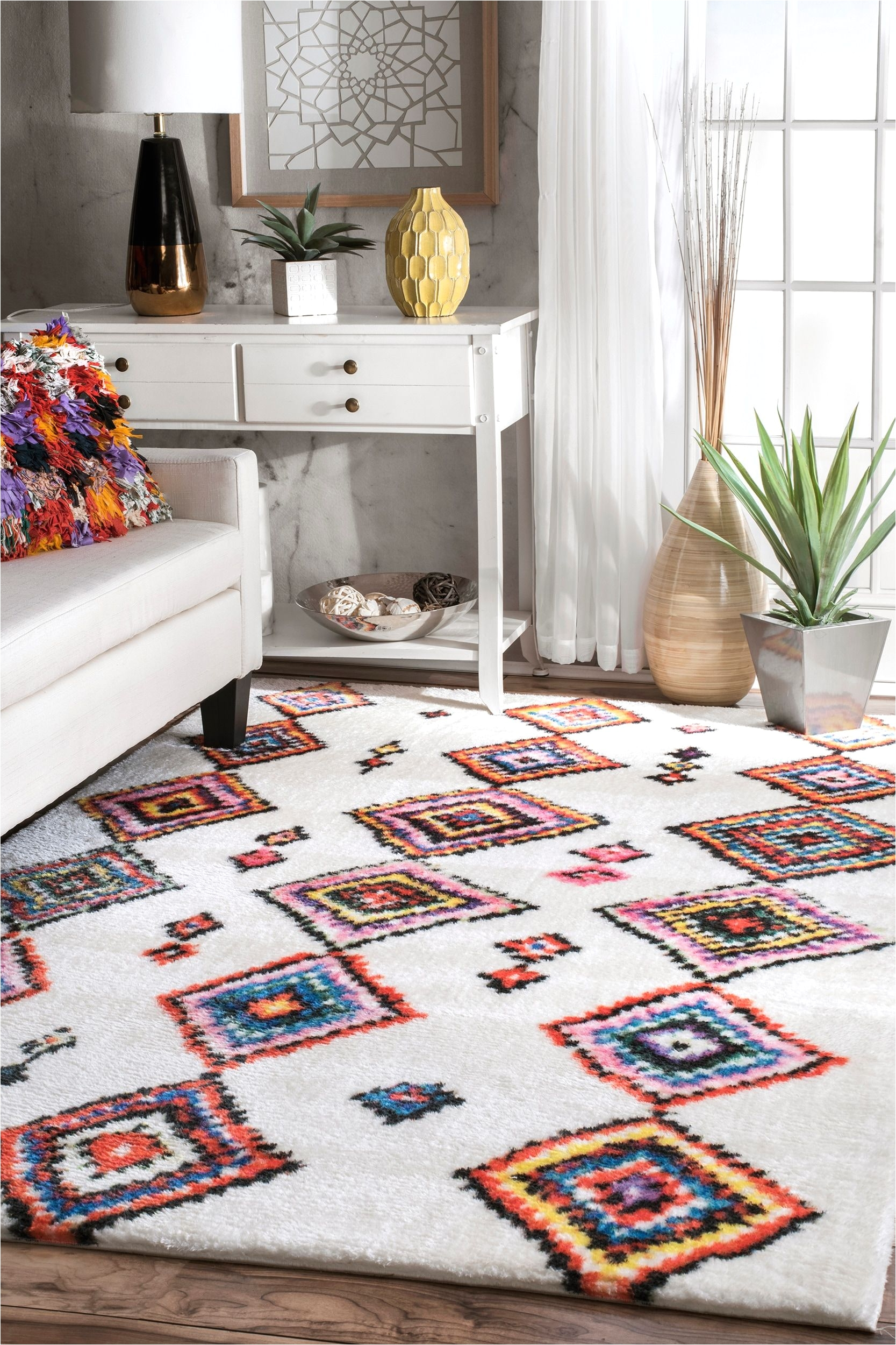 rugs usa watercolor moroccan aztec printed rug