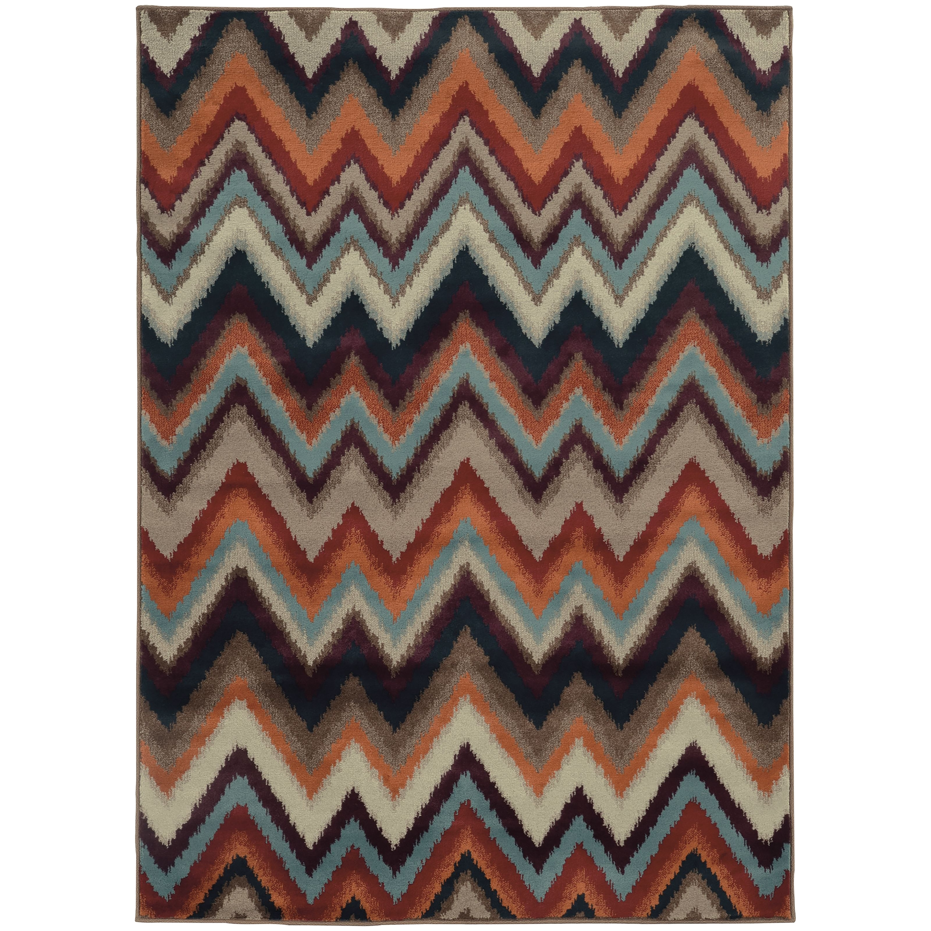 style haven chevron ikat multi stone rug 3 10x5 5