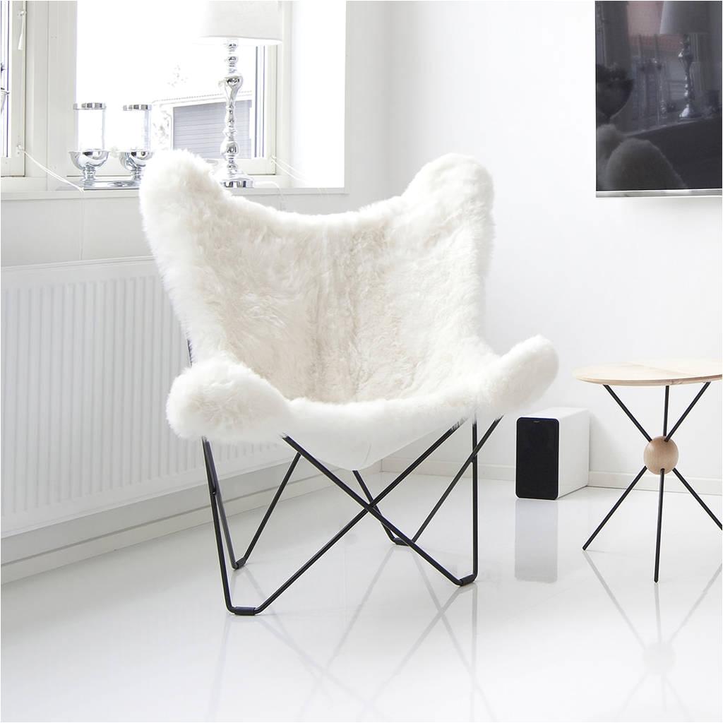 sheepskin erfly chair by grattify notonthehighstreet com