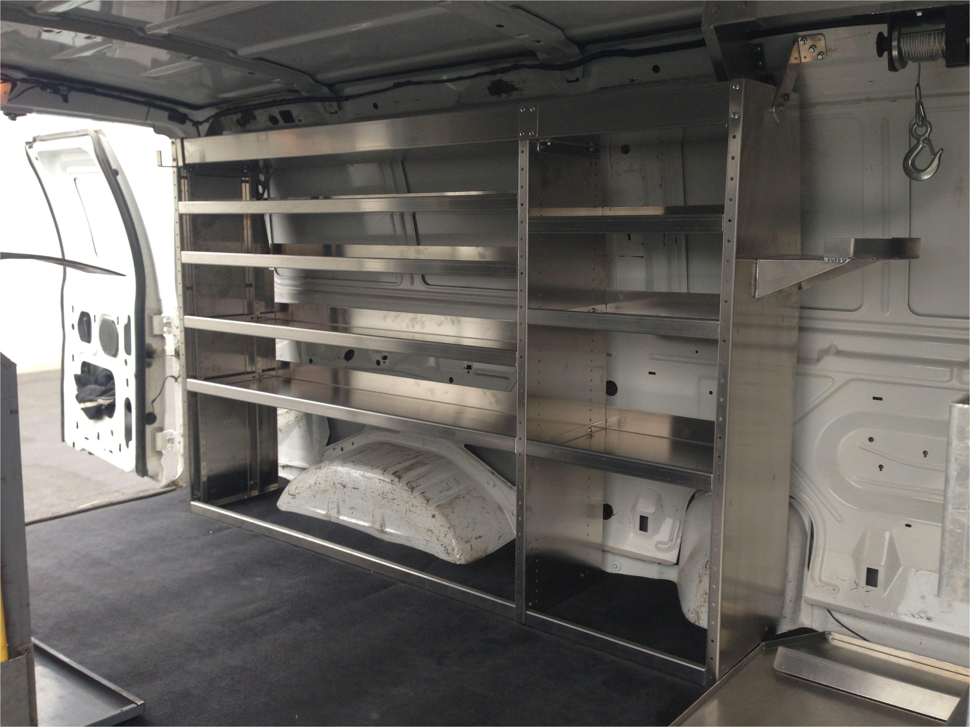 Plywood Racking for Vans Cargo Van Shelving 360035 A Camper Design Ideas Pinterest