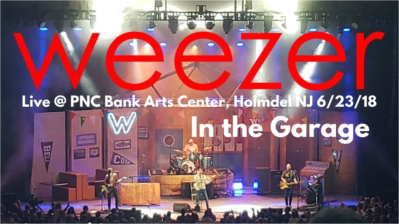weezer in the garage live pnc bank arts center holmdel nj 7 20 18