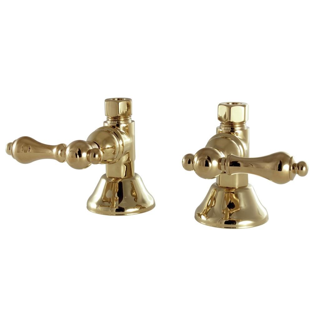kingston brass cck44152al straight stop shut off valve polished brass