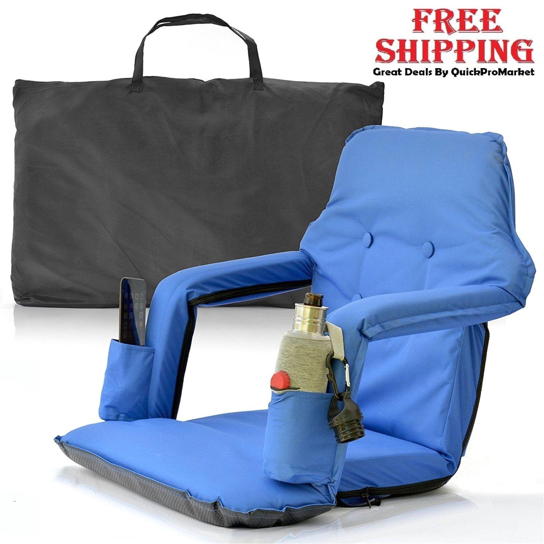 Portable Stadium Chairs for Bleachers Extra Wide Padded Stadium Chair Portable Seat Football Bleacher